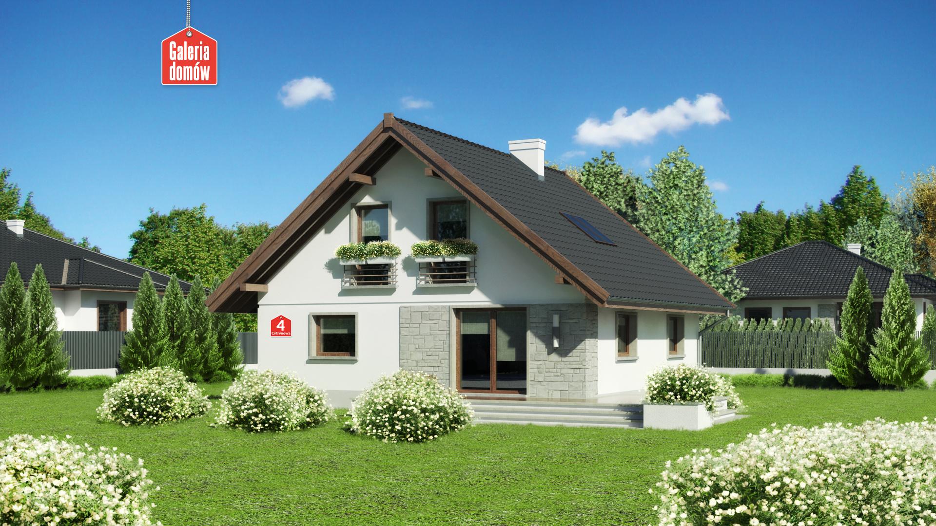 Zdjęcie projektu i wizualizacja: projekt domu Dom przy Cytrynowej 4