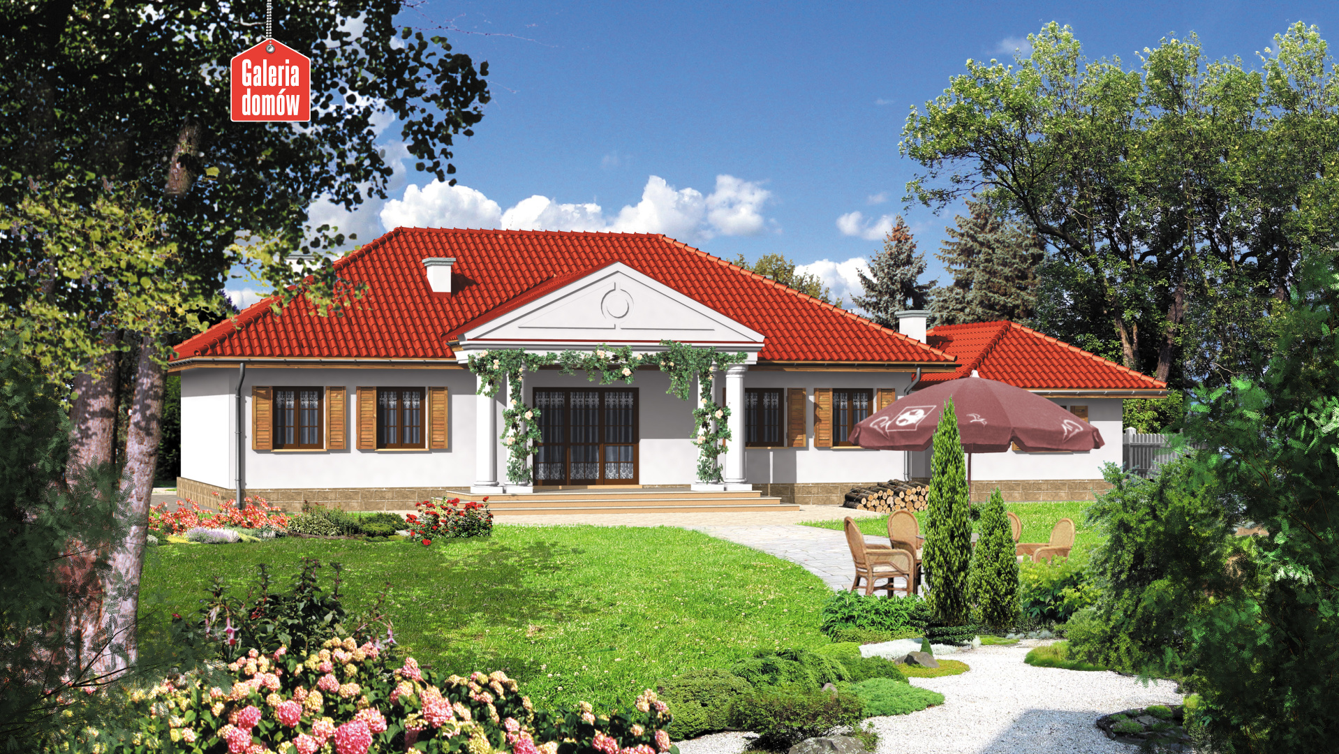 Dom przy Dębowej - widok od ogrodu