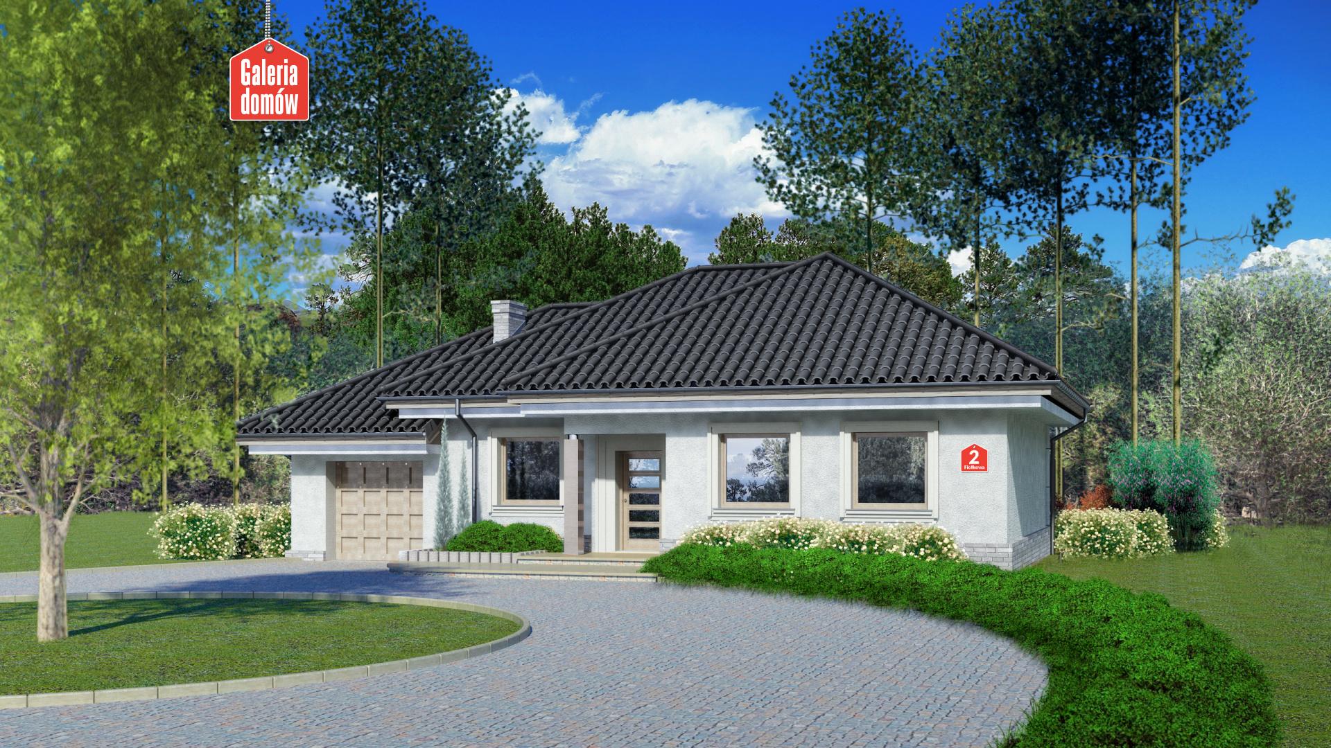 Zdjęcie projektu i wizualizacja: projekt domu Dom przy Fiołkowej 2