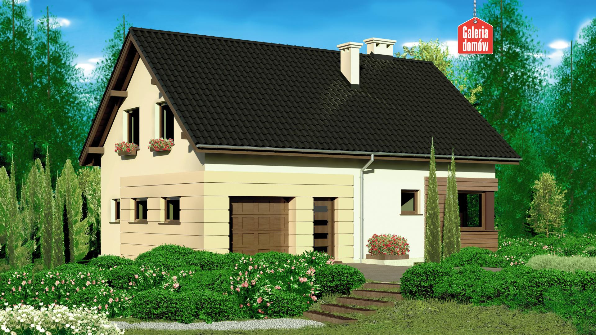 Dom przy Głogowej 2 - widok od ogrodu