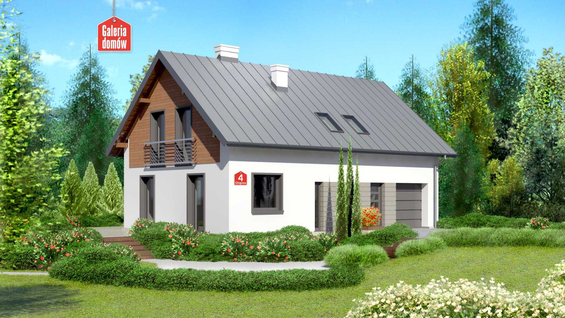Zdjęcie projektu i wizualizacja: projekt domu Dom przy Głogowej 4