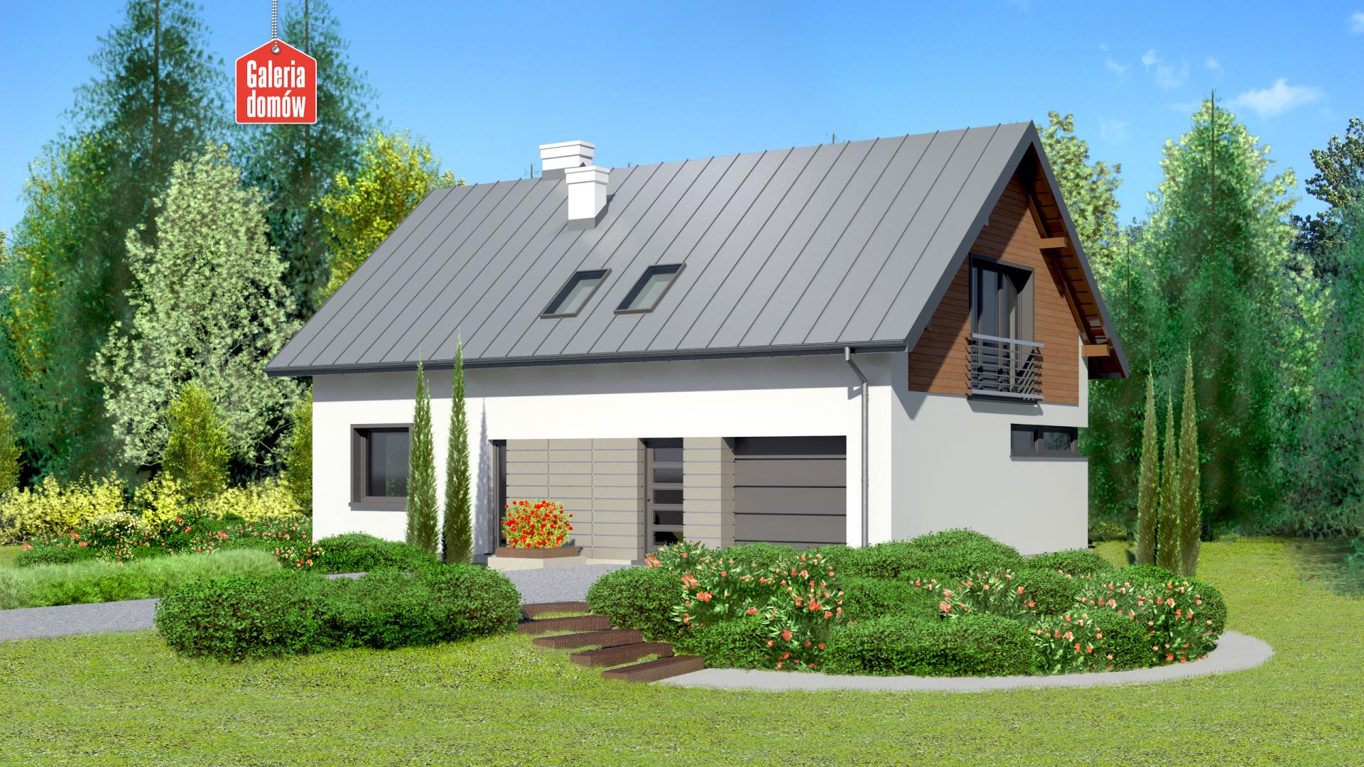Dom przy Głogowej 4 - widok od ogrodu