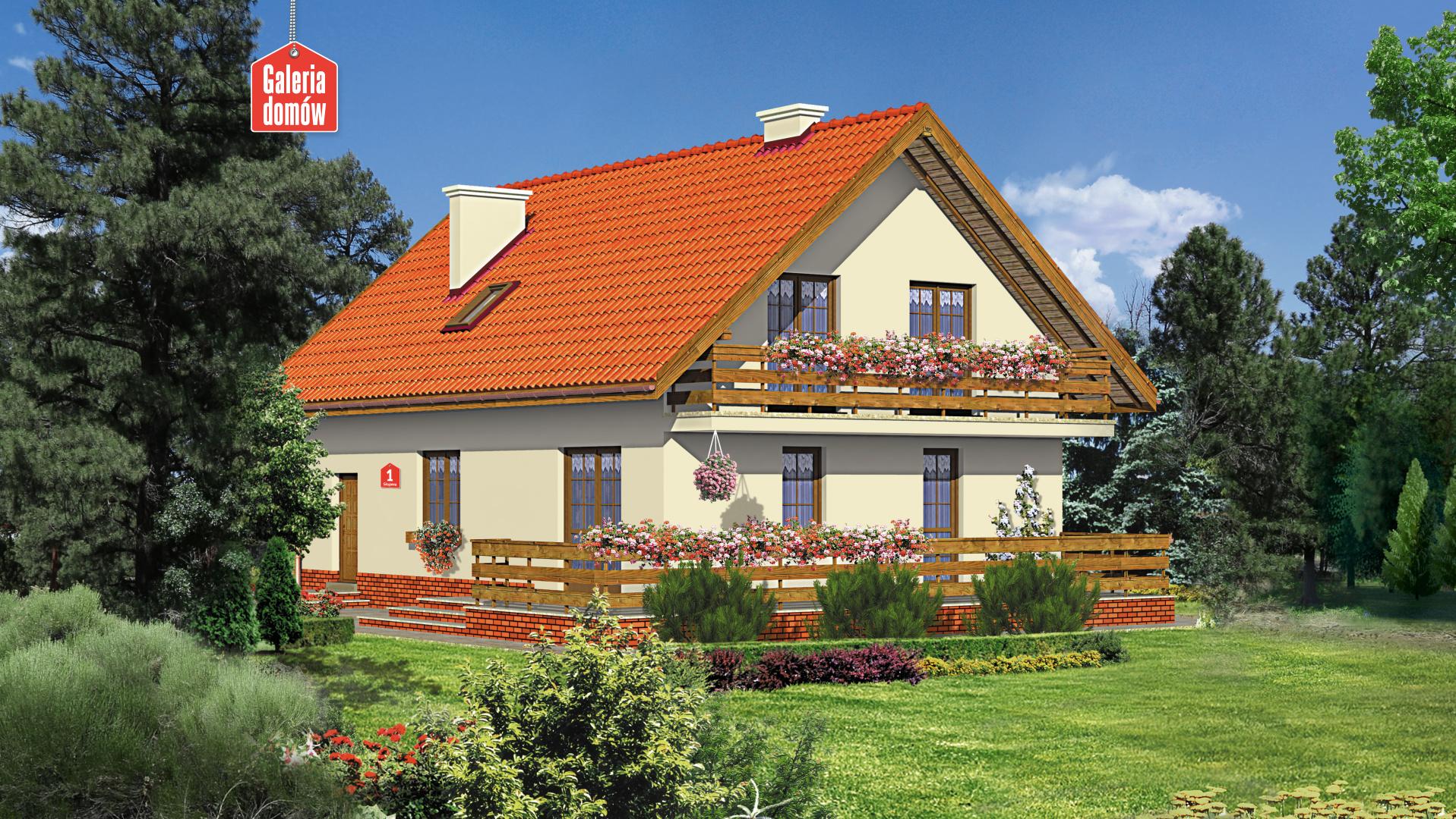 Dom przy Głogowej - widok od ogrodu