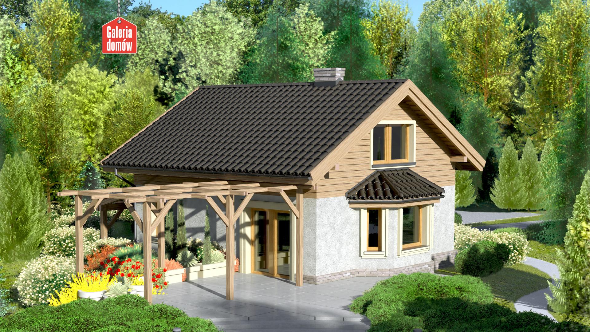 Dom przy Imbirowej 2 - widok od ogrodu