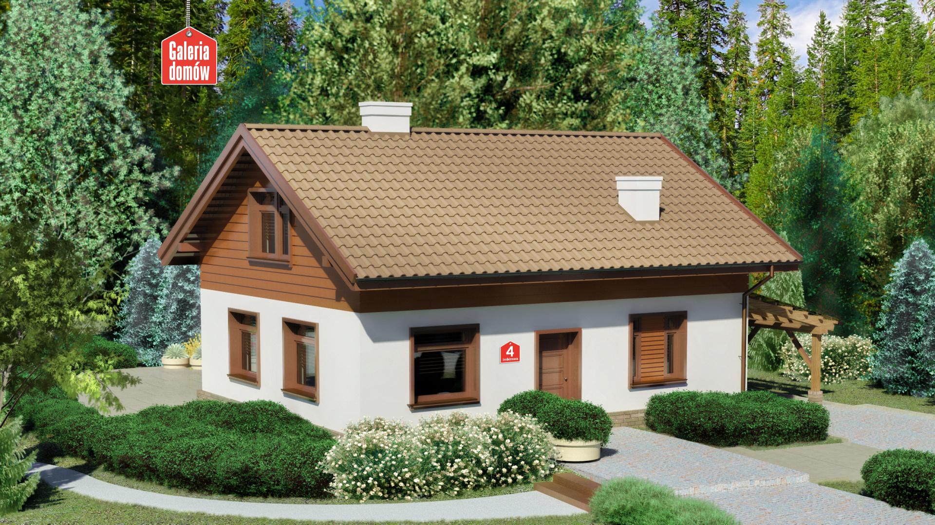 Zdjęcie projektu i wizualizacja: projekt domu Dom przy Imbirowej 4