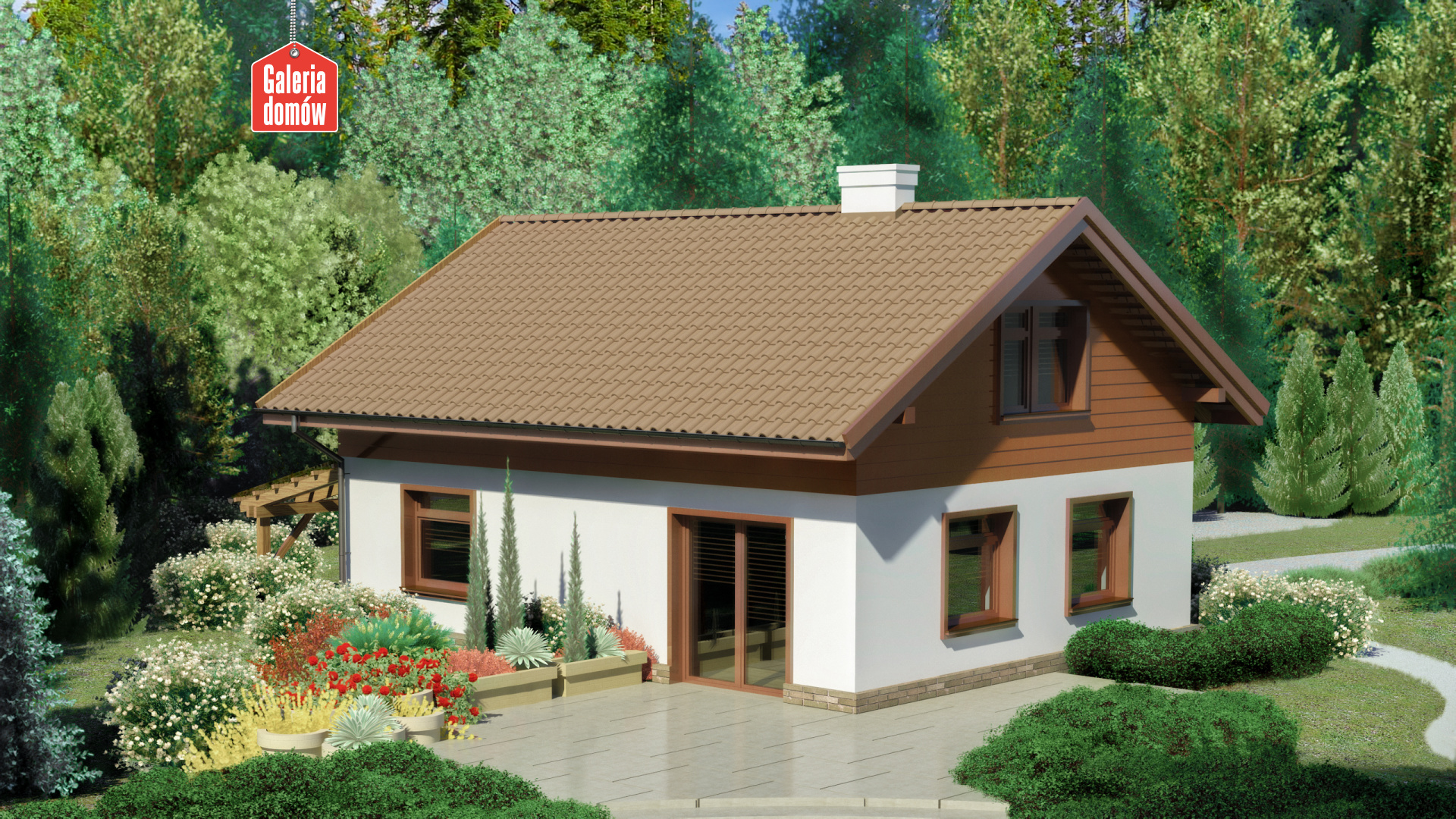 Dom przy Imbirowej 4 - widok od strony ogrodu