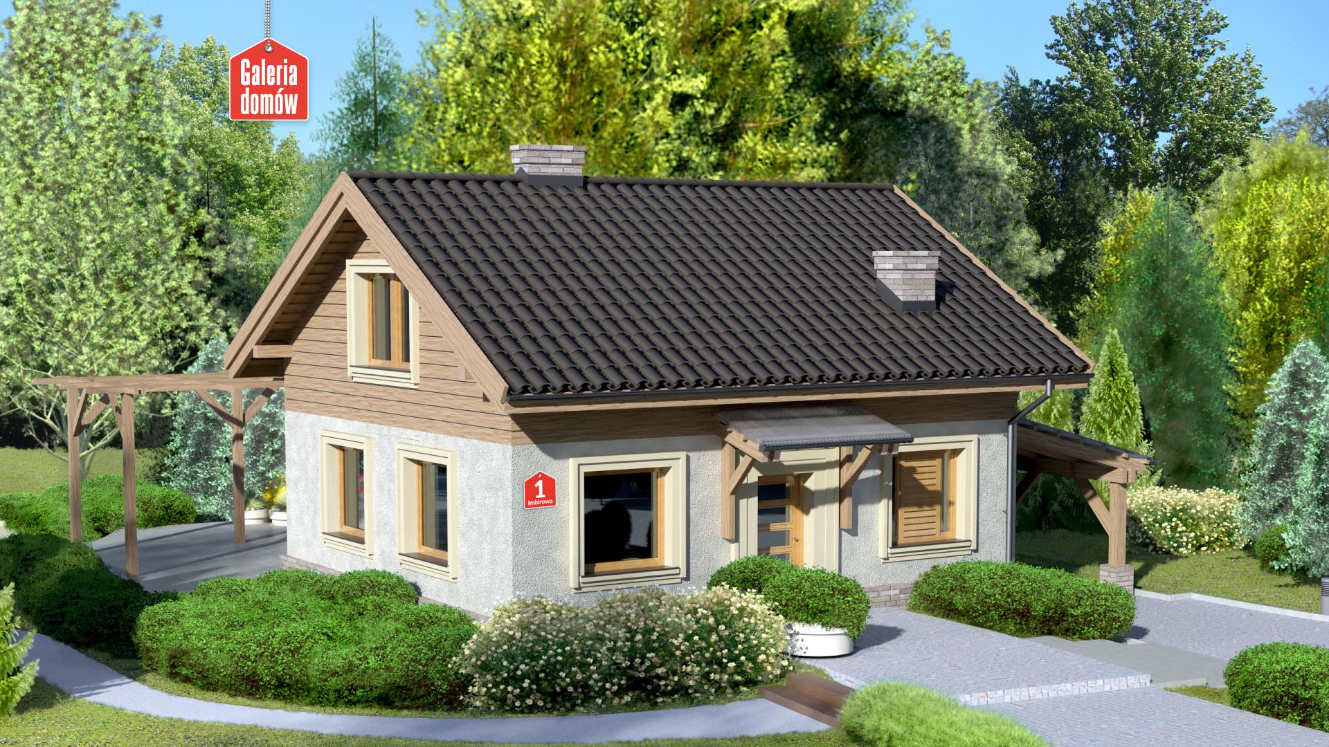 Zdjęcie projektu i wizualizacja: projekt domu Dom przy Imbirowej