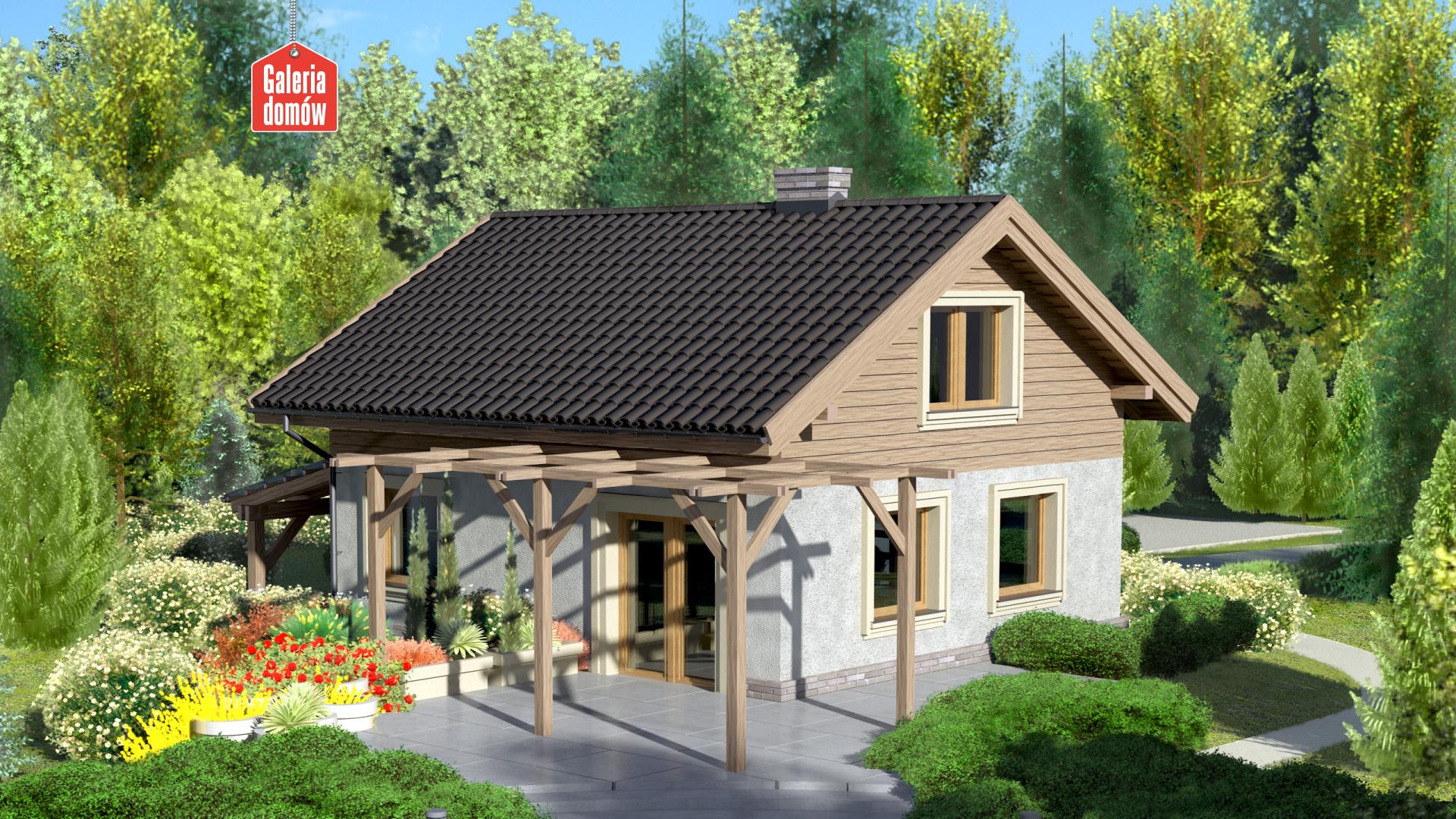 Dom przy Imbirowej - widok od ogrodu