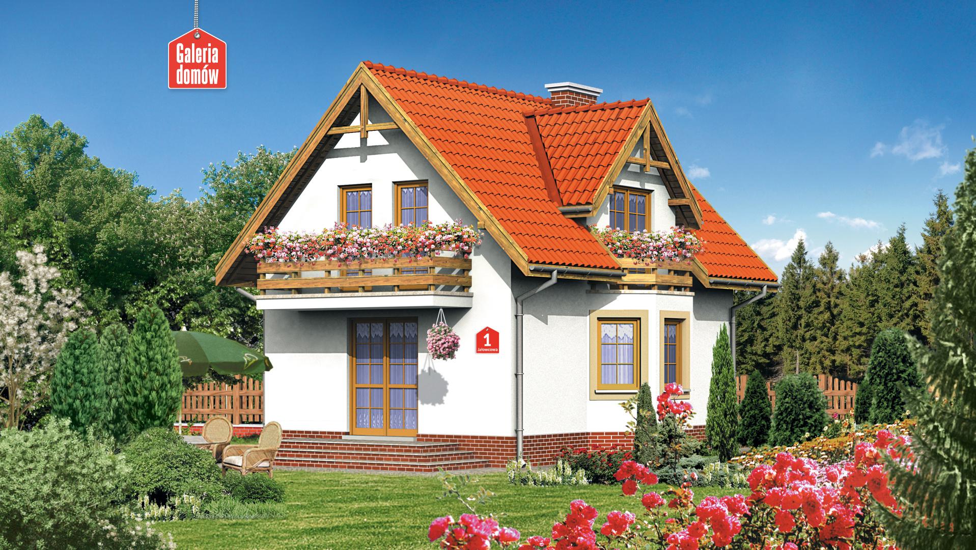 Dom przy Jałowcowej - zdjęcie projektu i wizualizacja