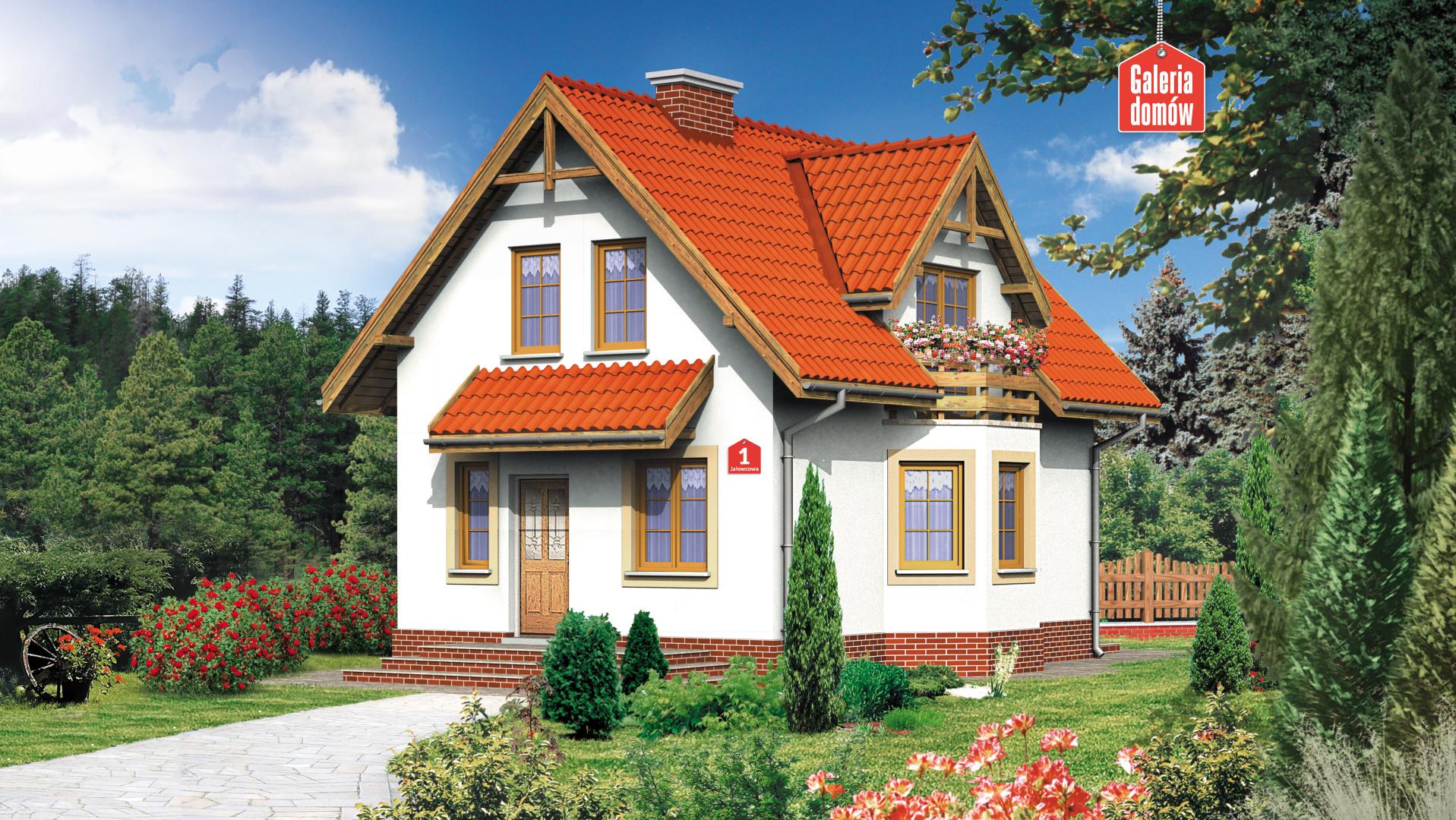Dom przy Jałowcowej - widok od ogrodu