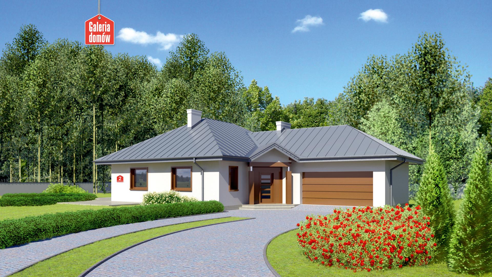 Dom przy Jaśminowej 2 - zdjęcie projektu i wizualizacja