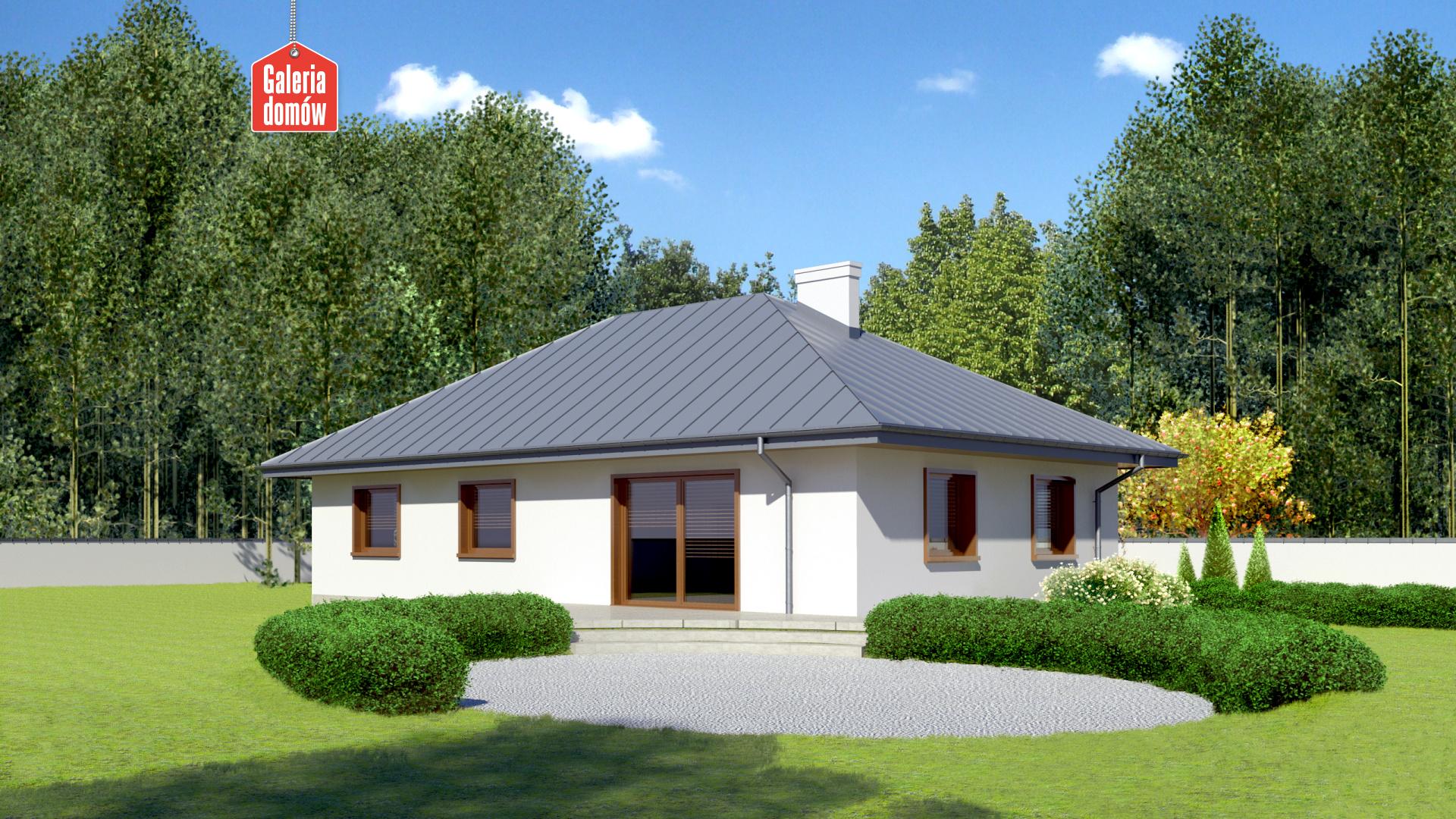 Dom przy Jaśminowej 2 - widok od strony ogrodu