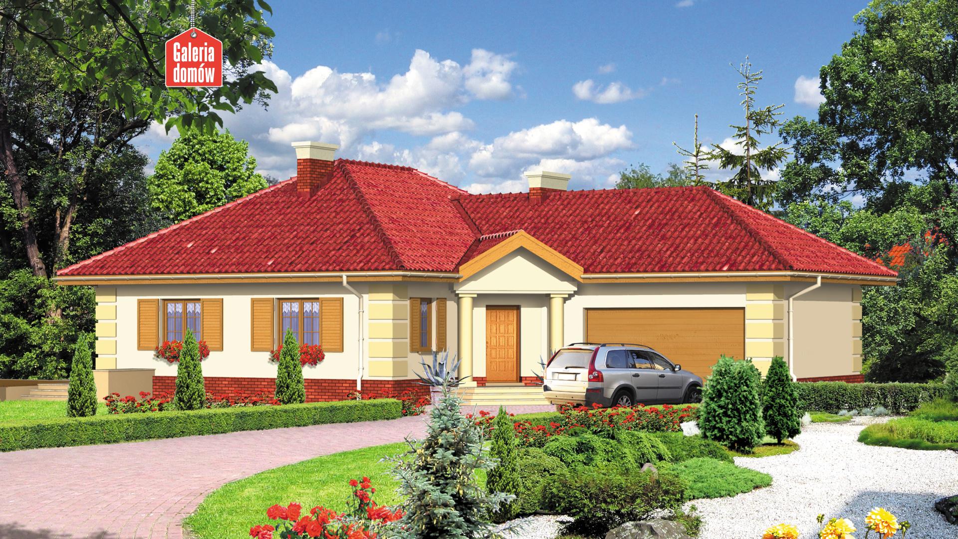 Zdjęcie projektu i wizualizacja: projekt domu Dom przy Jaśminowej