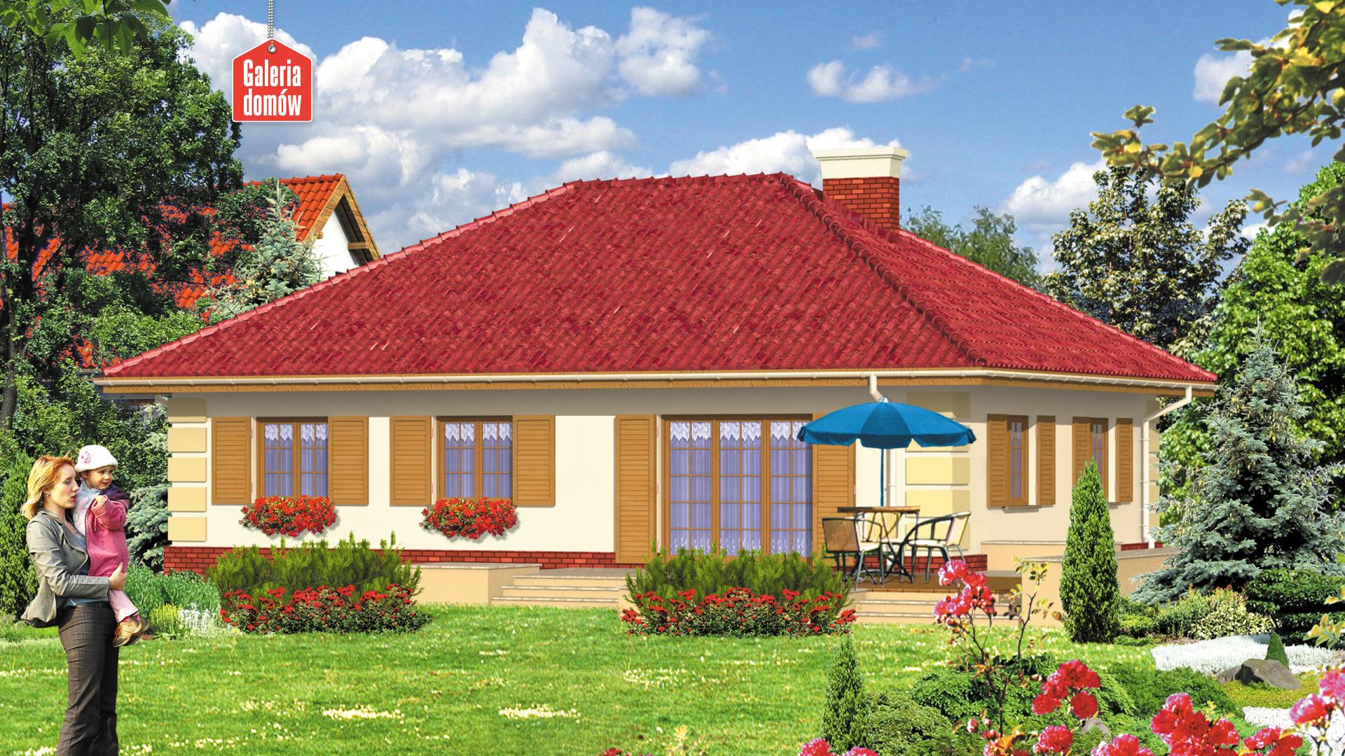 Dom przy Jaśminowej - widok od strony ogrodu
