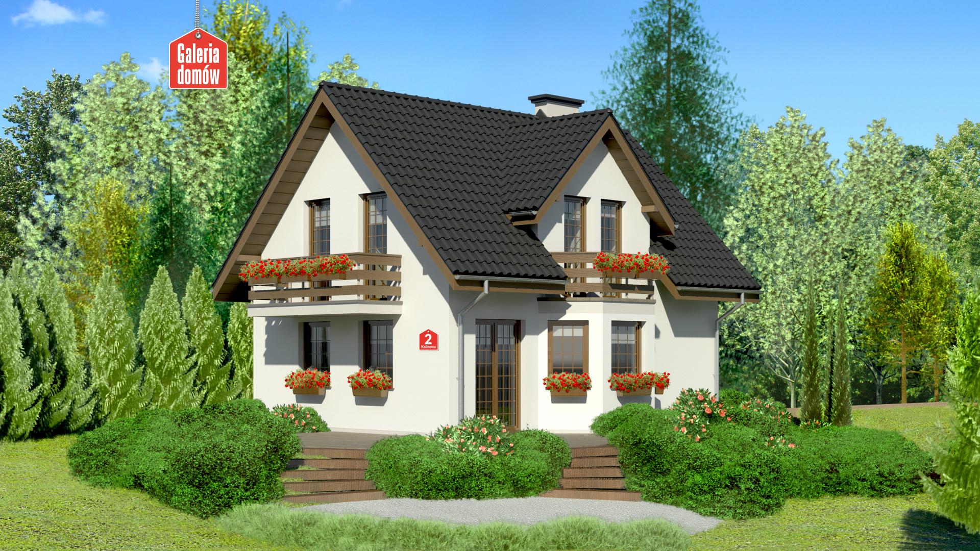 Zdjęcie projektu i wizualizacja: projekt domu Dom przy Kalinowej 2