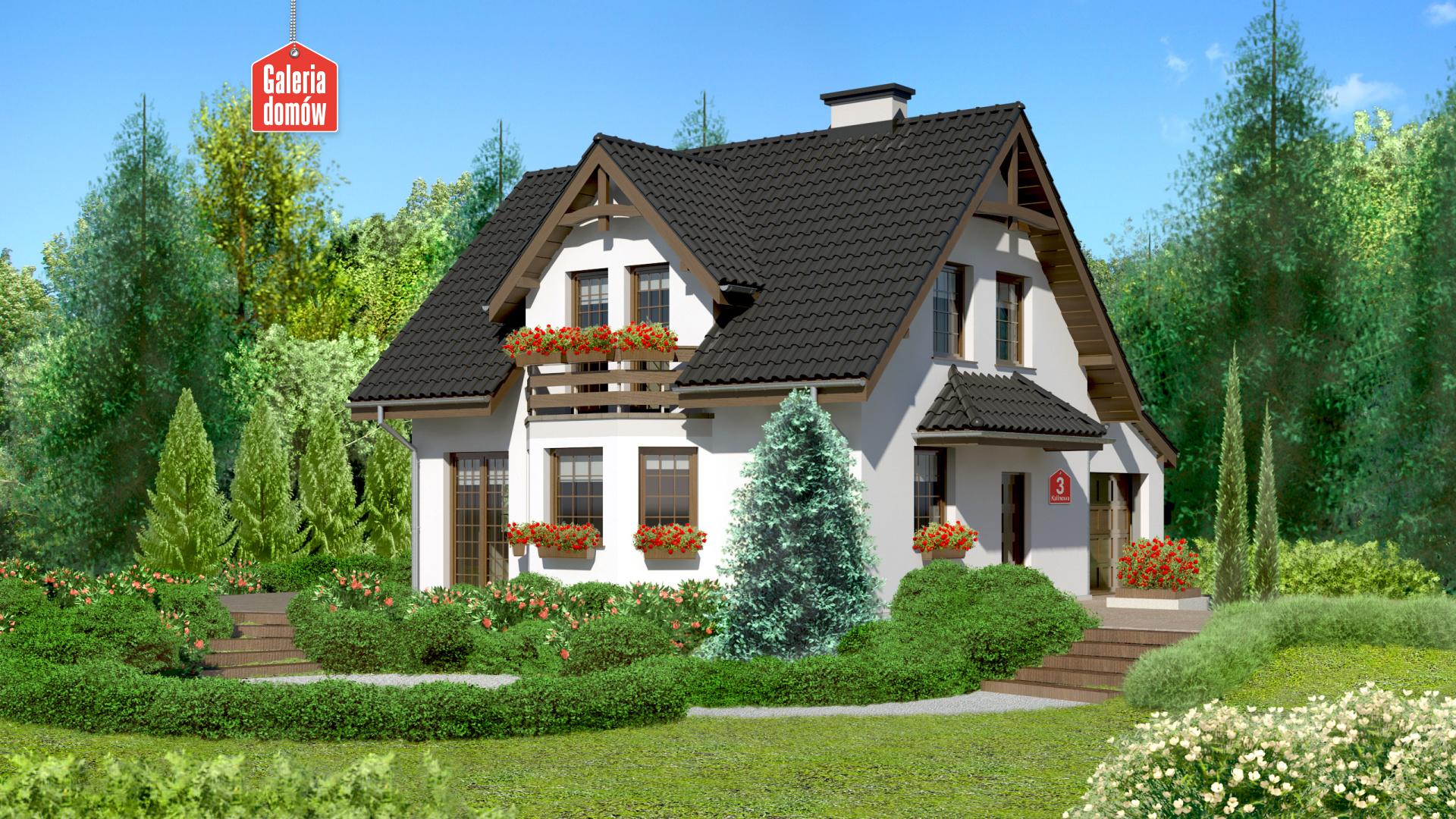 Zdjęcie projektu i wizualizacja: projekt domu Dom przy Kalinowej 3