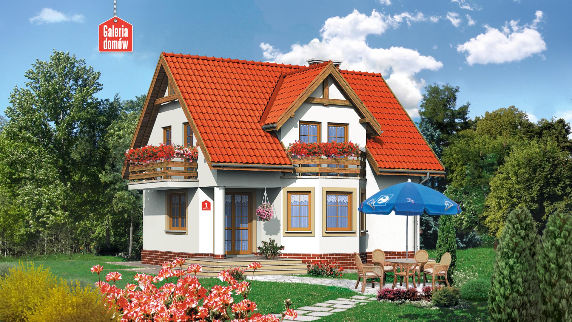 Dom przy Kalinowej - zdjęcie projektu i wizualizacja