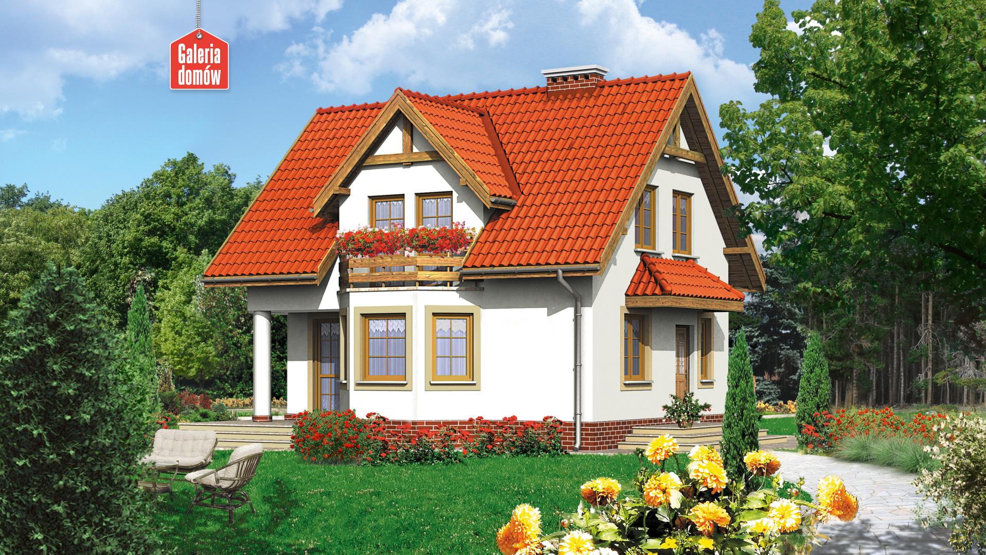 Dom przy Kalinowej - widok od strony ogrodu