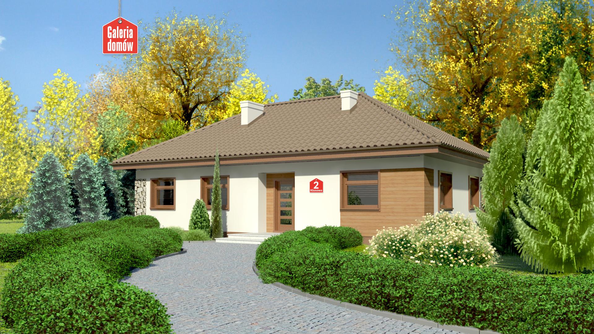 Zdjęcie projektu i wizualizacja: projekt domu Dom przy Klonowej 2