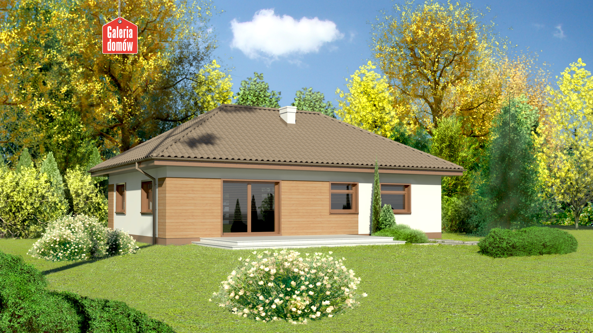 Dom przy Klonowej 2 - widok od ogrodu