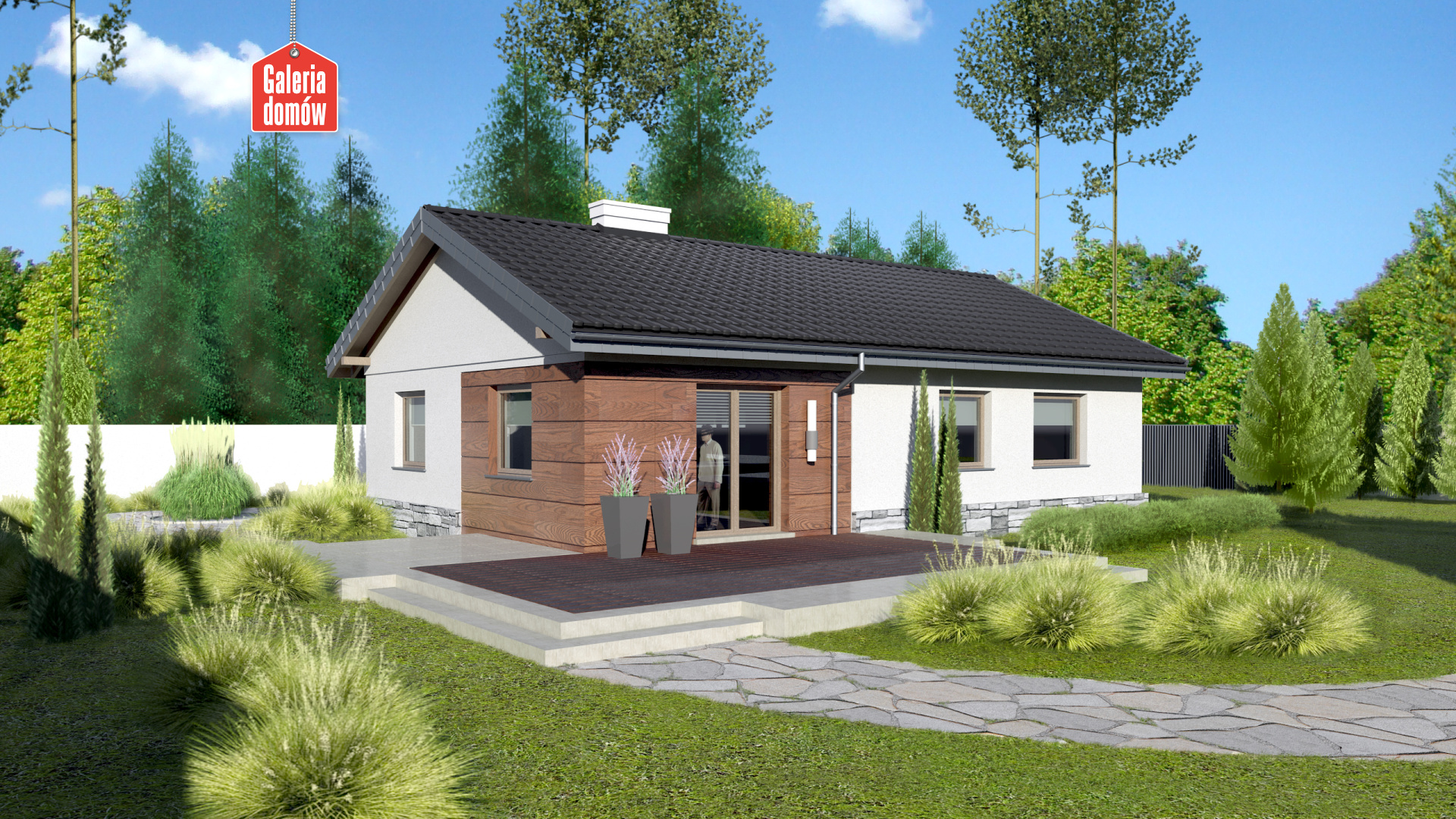Dom przy Klonowej 5 - widok od ogrodu