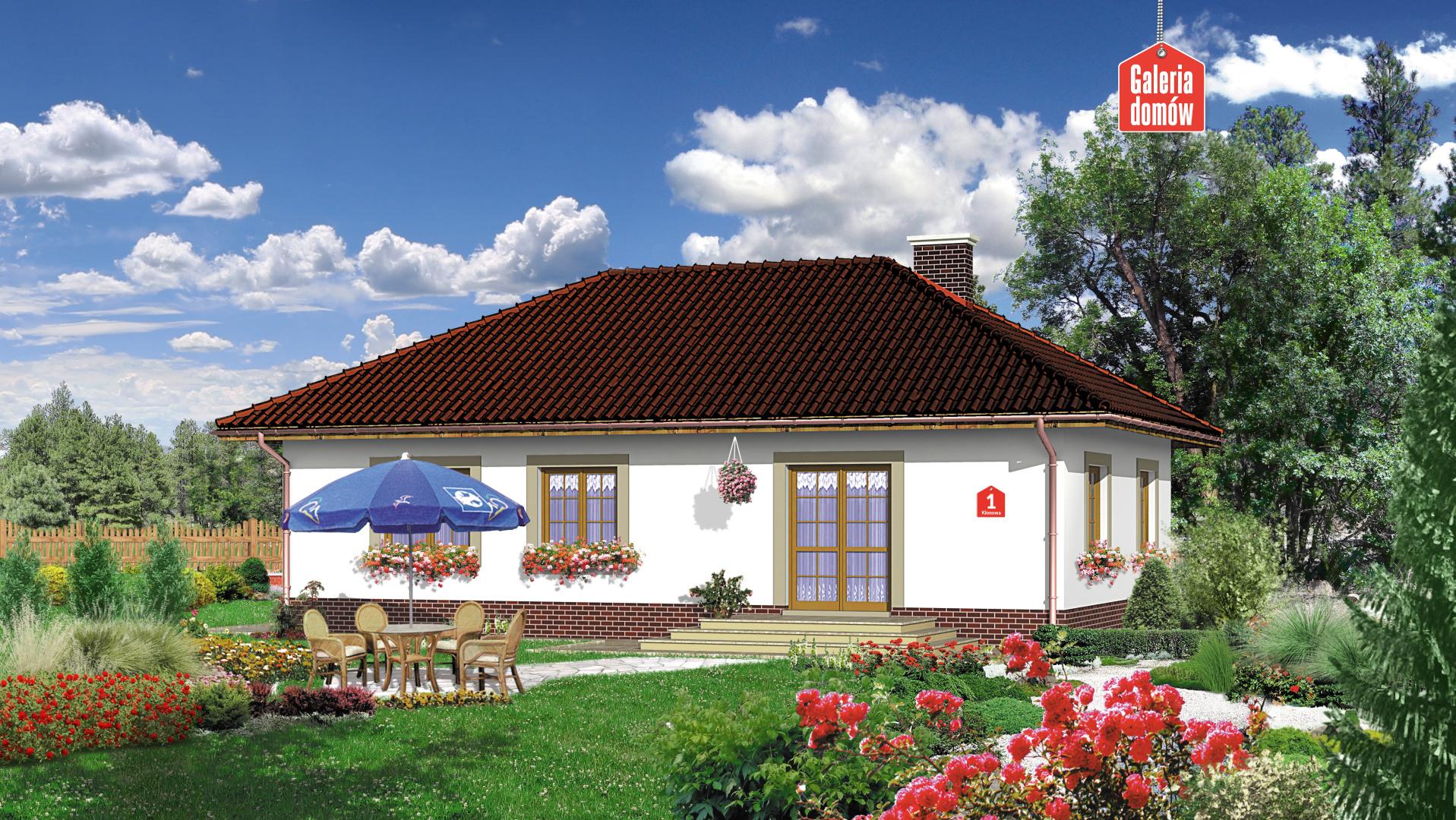 Dom przy Klonowej - widok od ogrodu