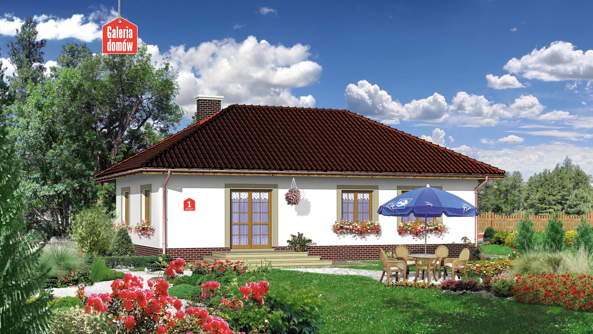 Dom przy Klonowej - widok od strony ogrodu