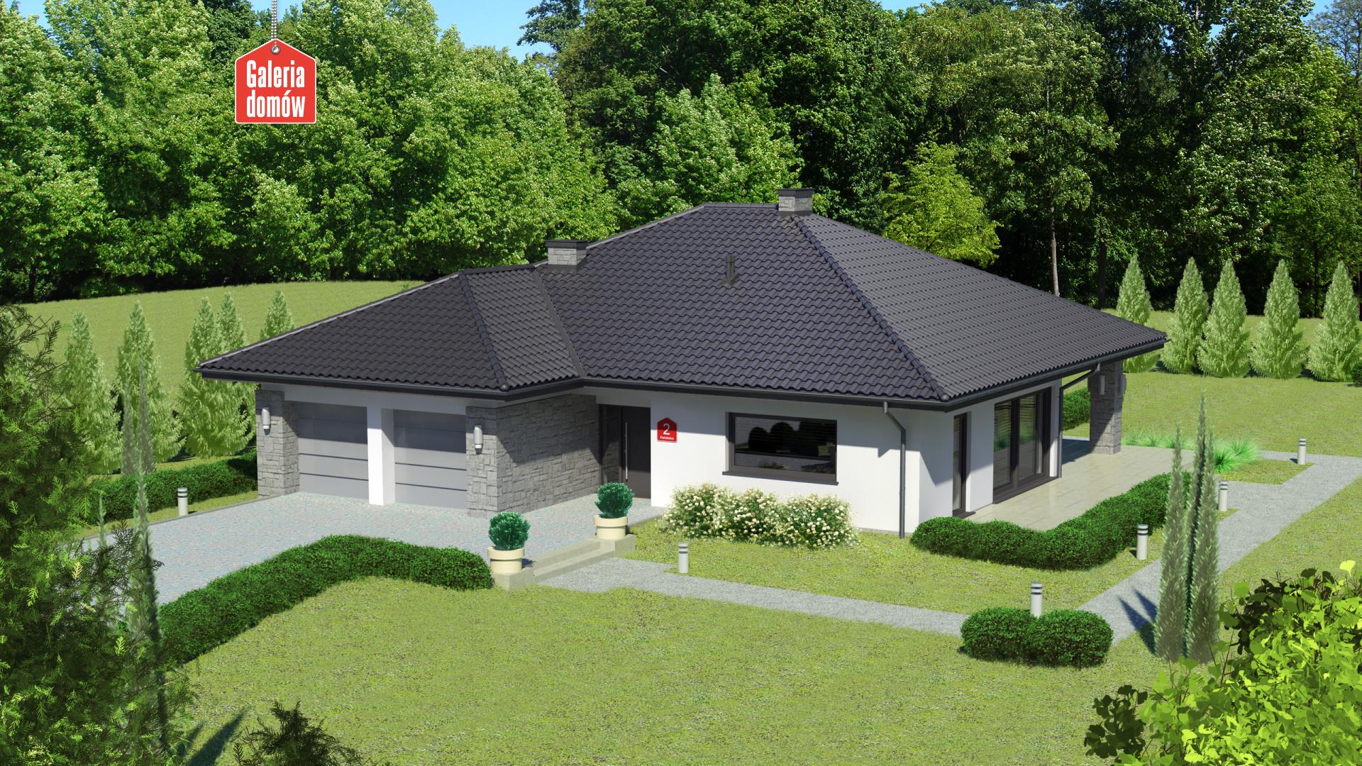 Dom przy Kwiatowej 2 - zdjęcie projektu i wizualizacja