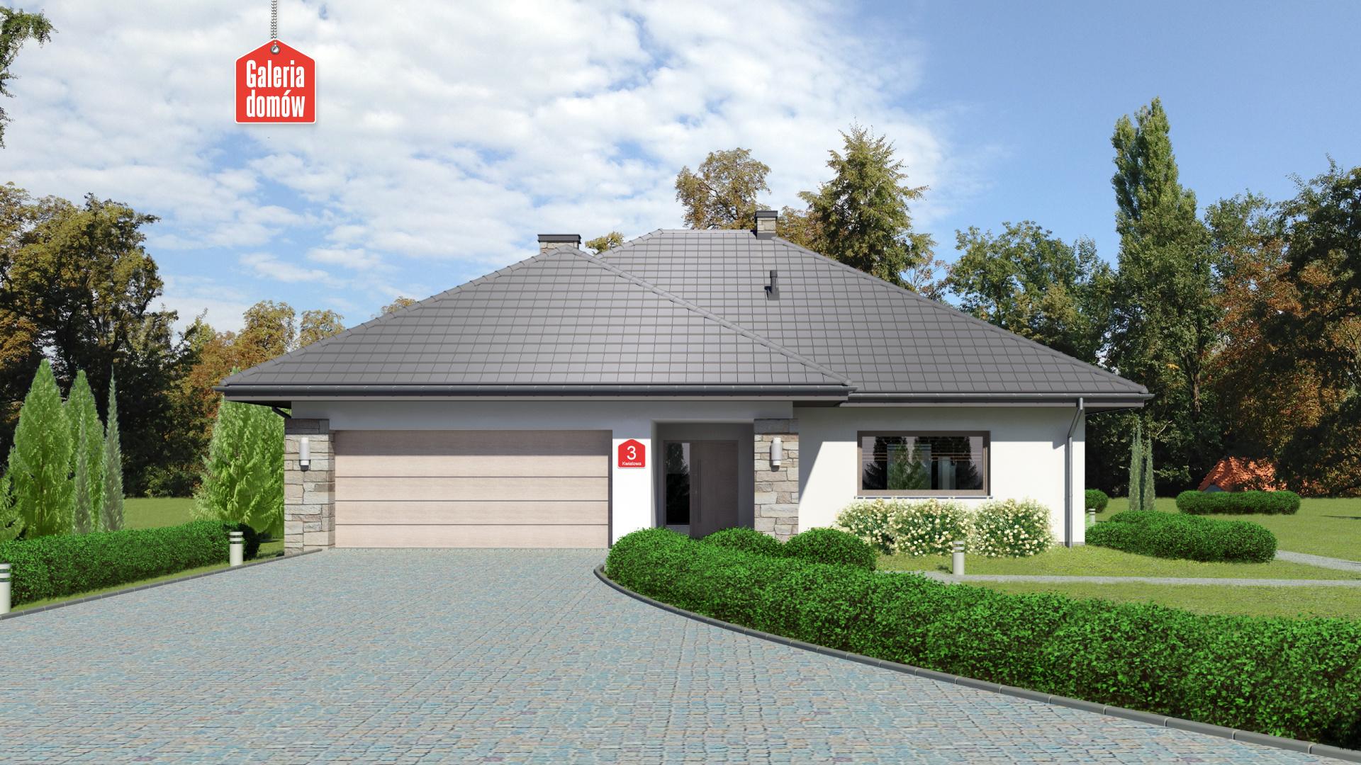 Dom przy Kwiatowej 3 bis - zdjęcie projektu i wizualizacja