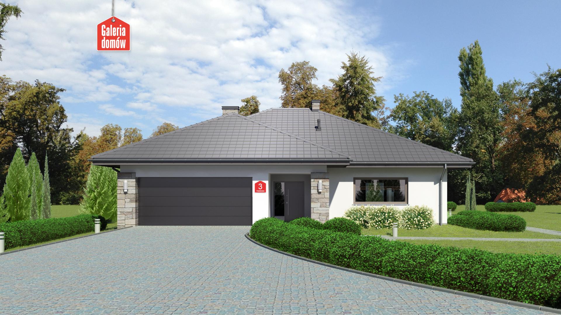 Dom przy Kwiatowej 3 - zdjęcie projektu i wizualizacja