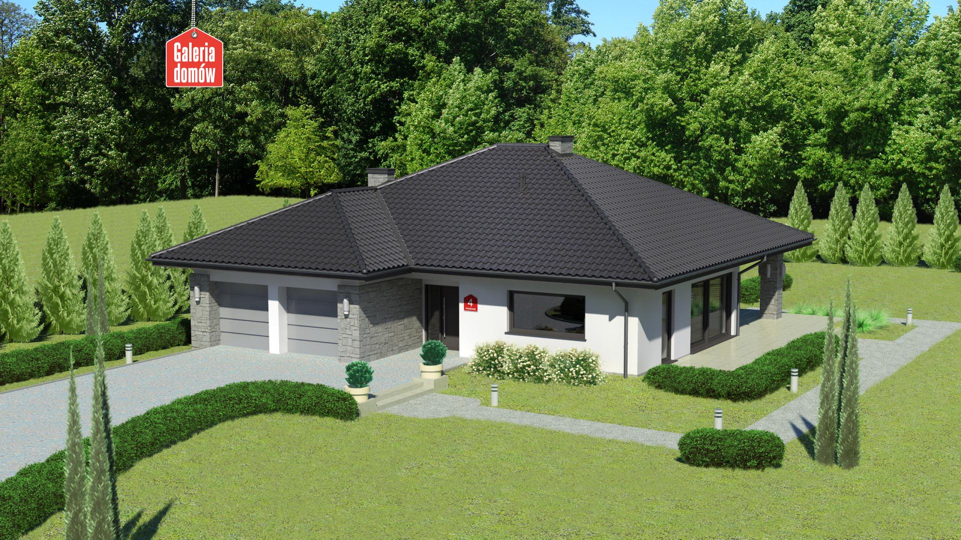 Dom przy Kwiatowej 4 - zdjęcie projektu i wizualizacja