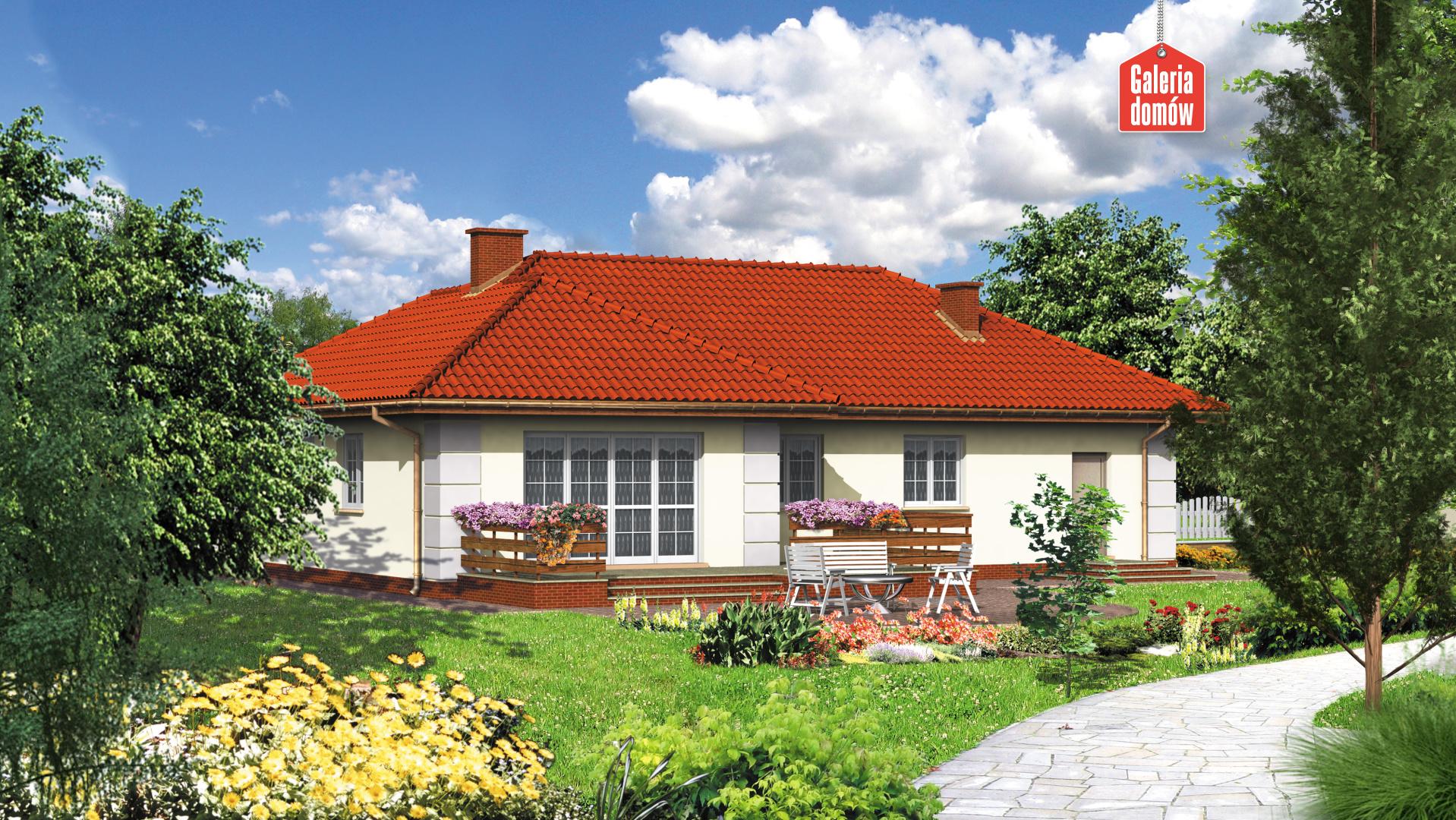 Dom przy Lazurowej - widok od ogrodu