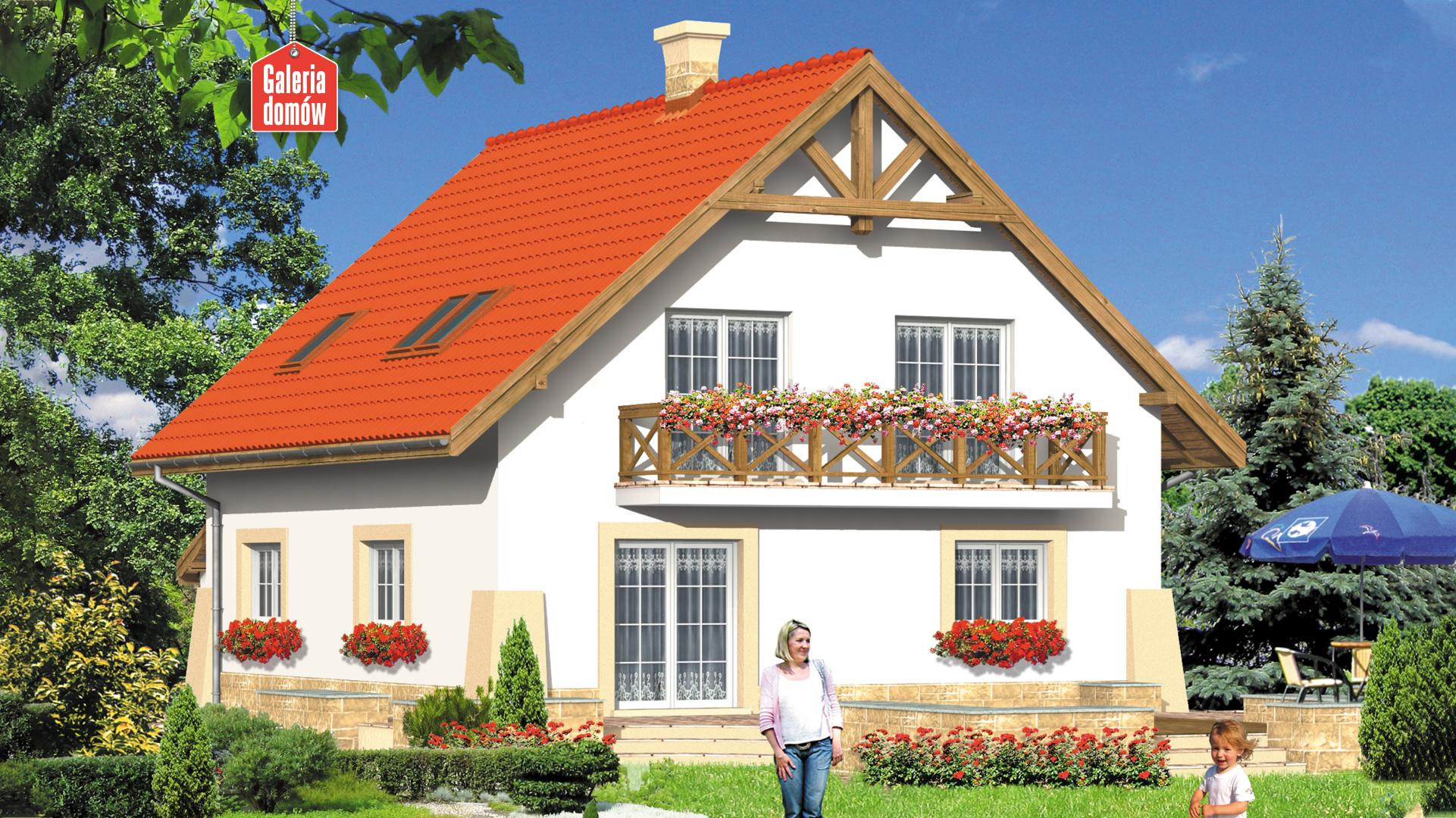 Dom przy Maciejkowej - widok od ogrodu