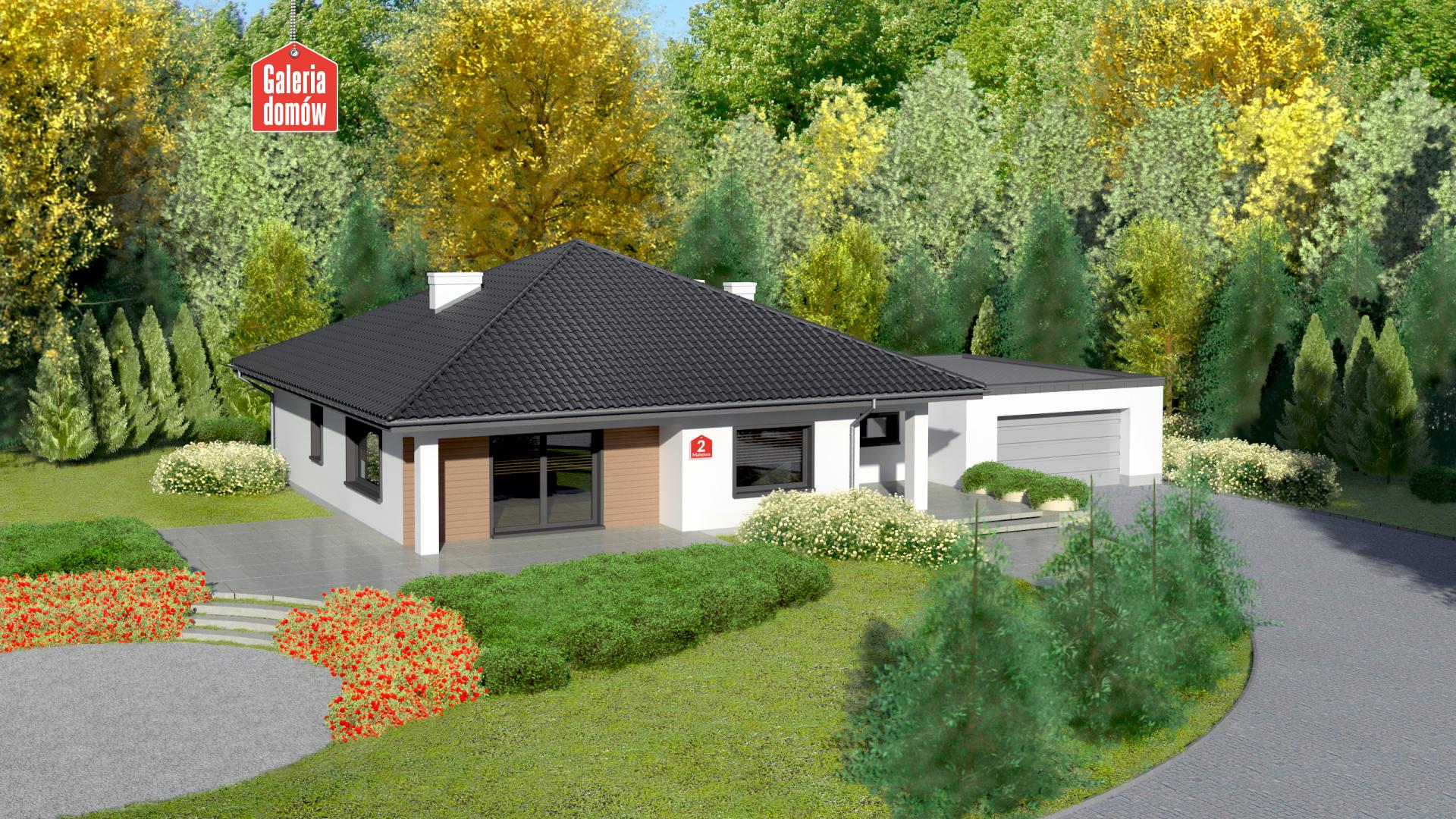 Zdjęcie projektu i wizualizacja: projekt domu Dom przy Makowej 2