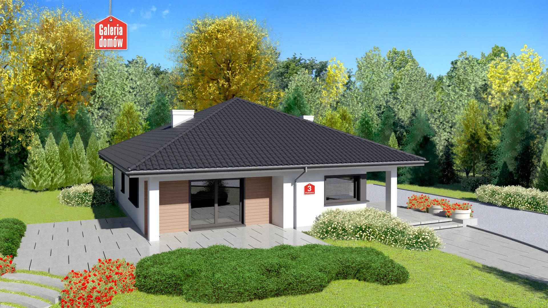 Zdjęcie projektu i wizualizacja: projekt domu Dom przy Makowej 3
