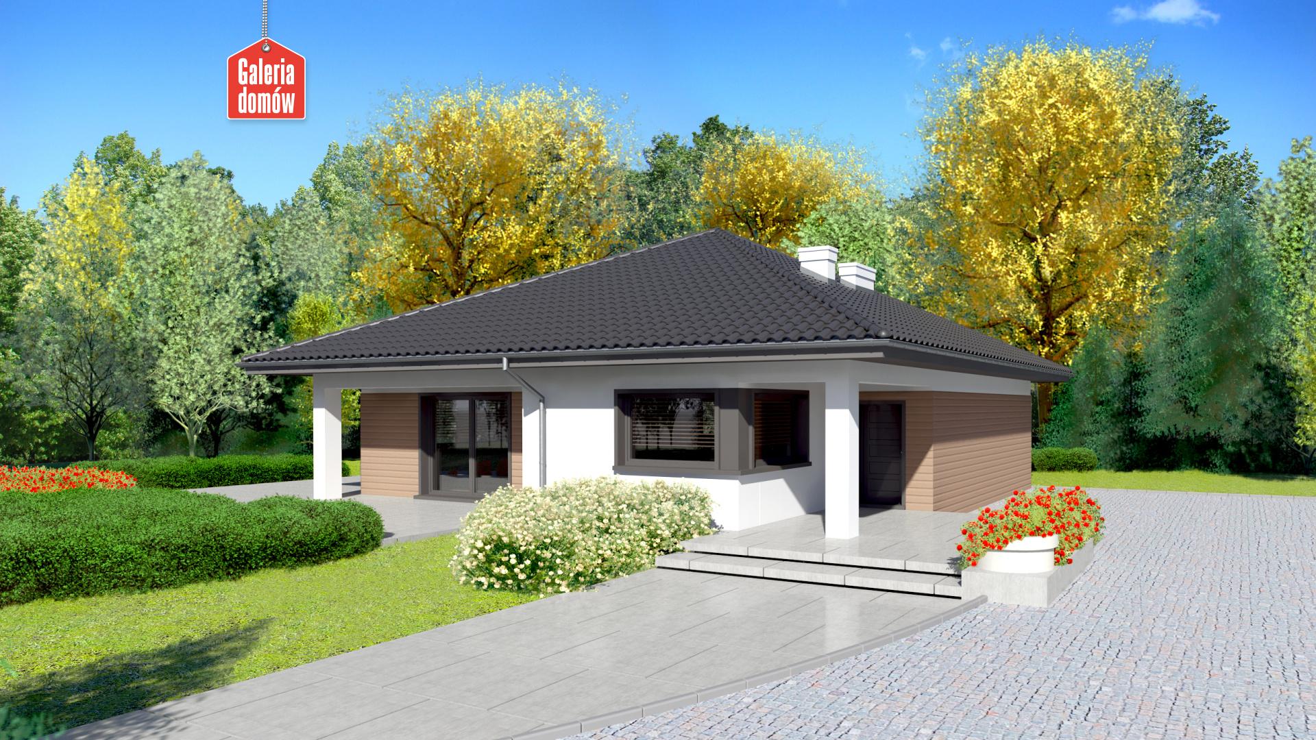 Dom przy Makowej 3 - widok od strony ogrodu
