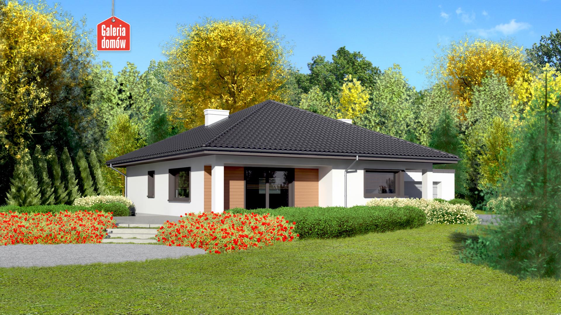 Dom przy Makowej 4 - widok od ogrodu