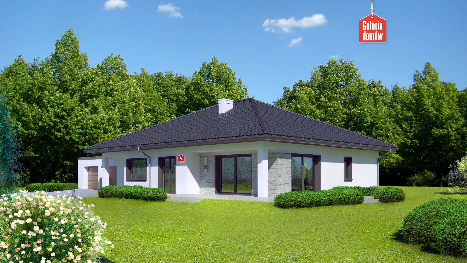 Dom przy Makowej 5 - widok od ogrodu