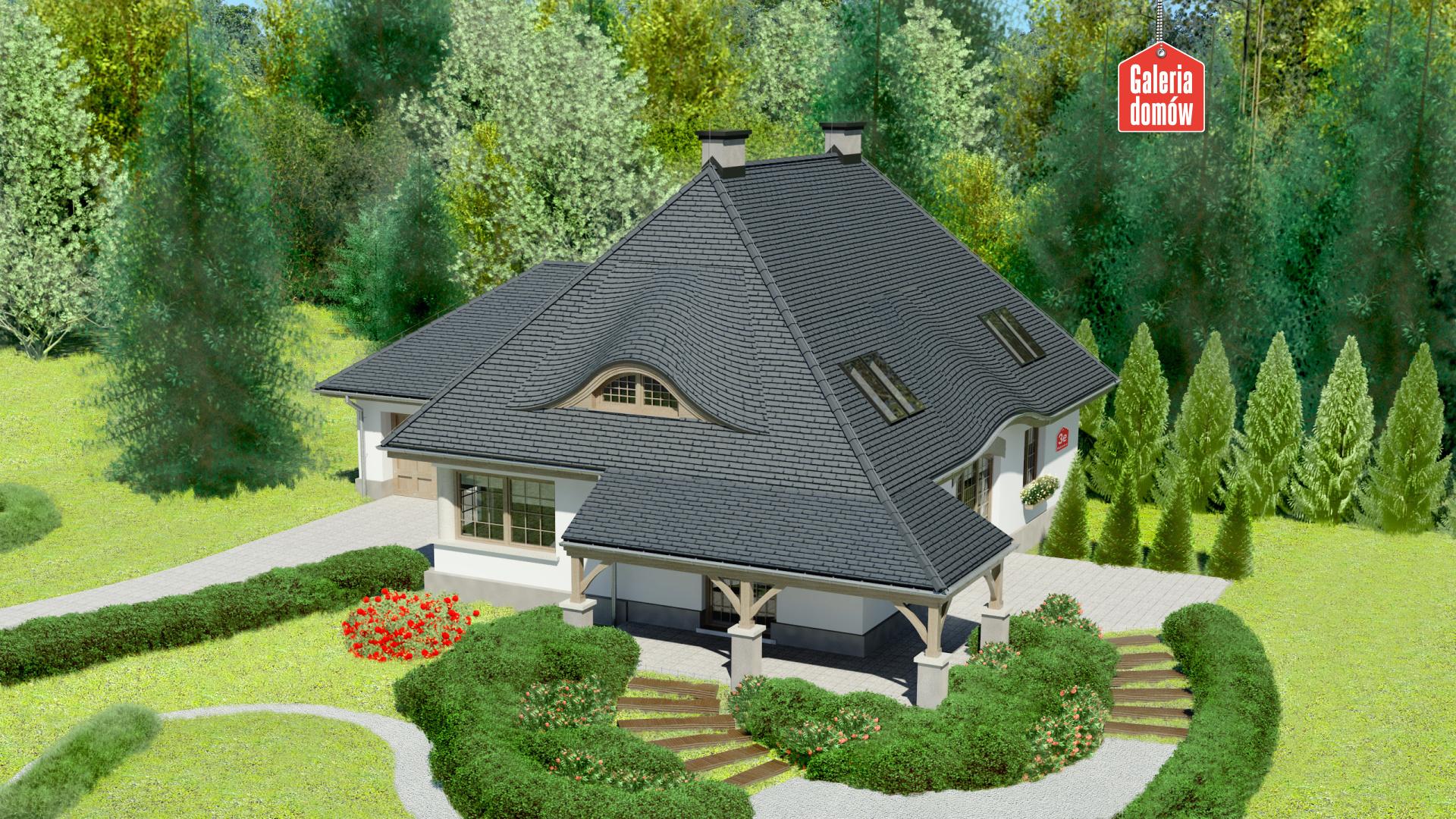 Dom przy Malowniczej 3 NF40 - widok od ogrodu