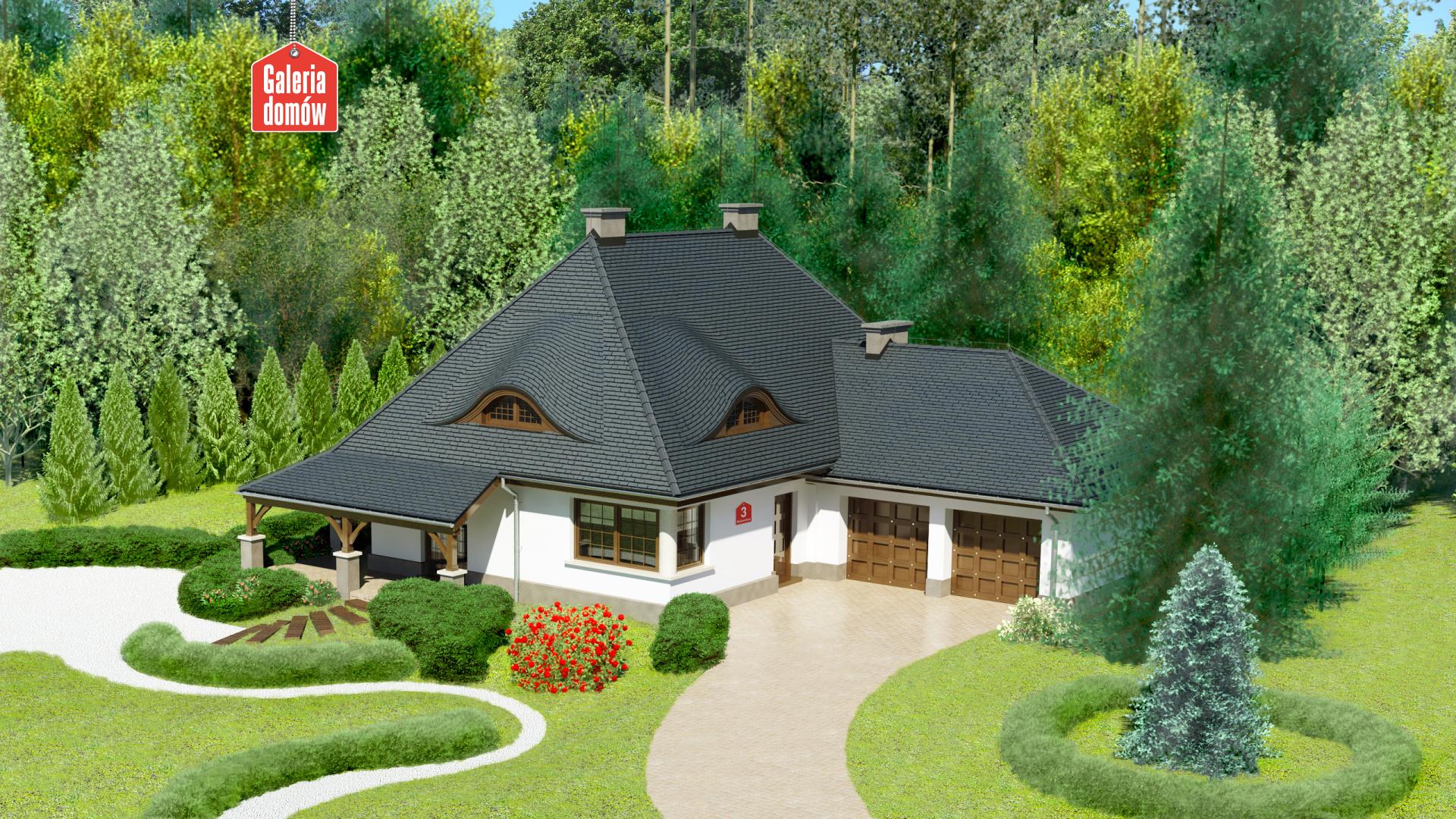 Dom przy Malowniczej 3 - zdjęcie projektu i wizualizacja