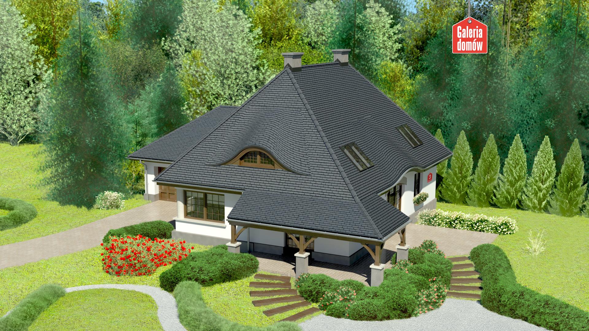 Dom przy Malowniczej 3 - widok od ogrodu