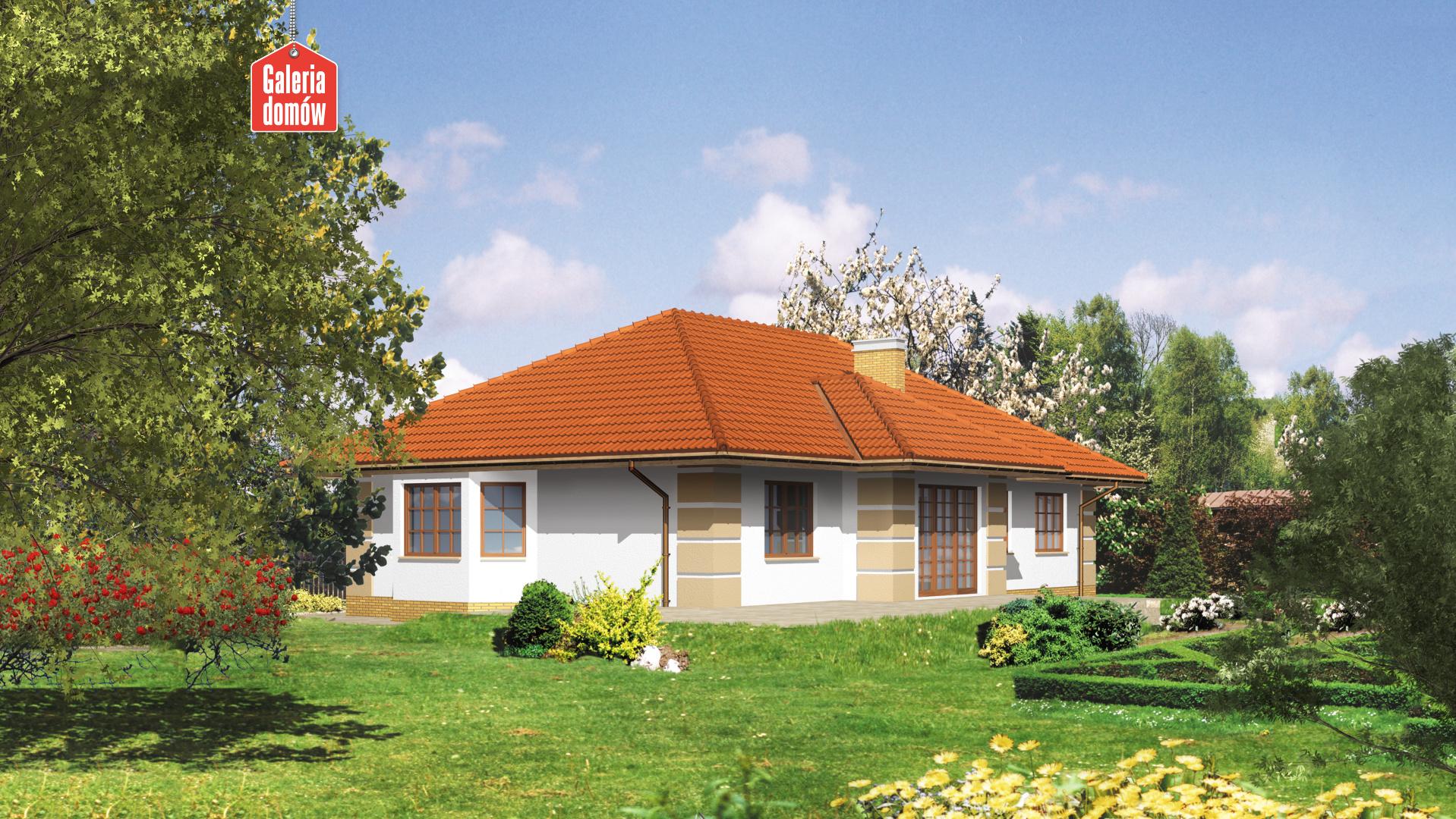 Dom przy Marcepanowej - widok od strony ogrodu