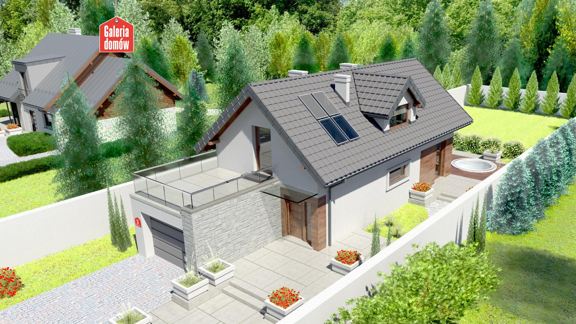Dom przy Migdałowej 3 - zdjęcie projektu i wizualizacja