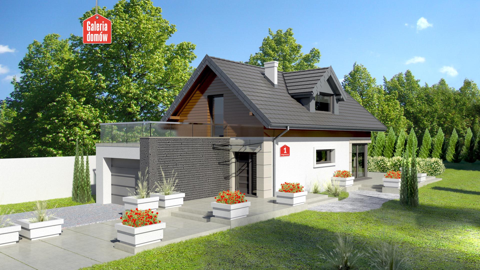 Zdjęcie projektu i wizualizacja: projekt domu Dom przy Migdałowej