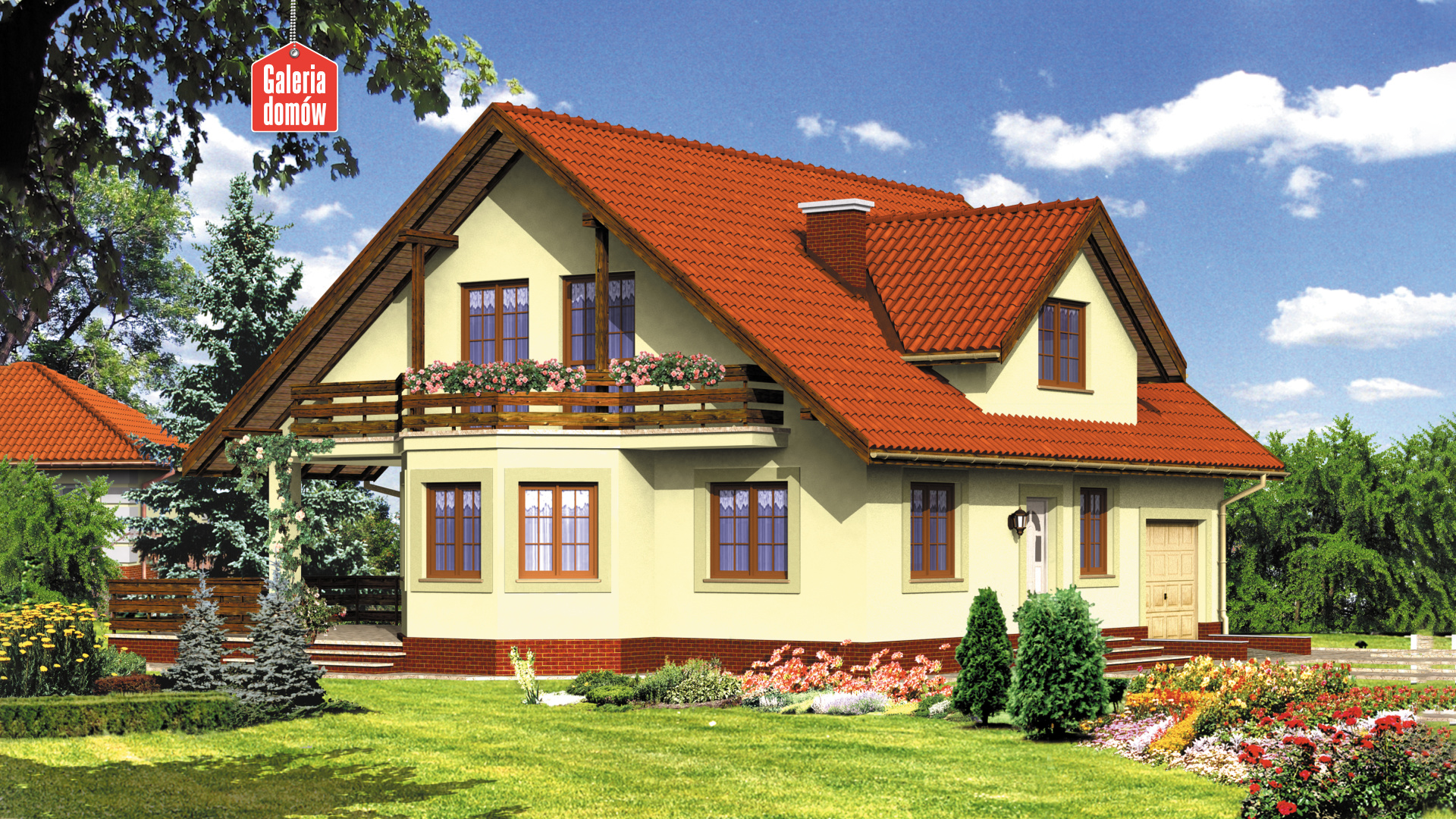 Dom przy Miodowej - widok od strony ogrodu