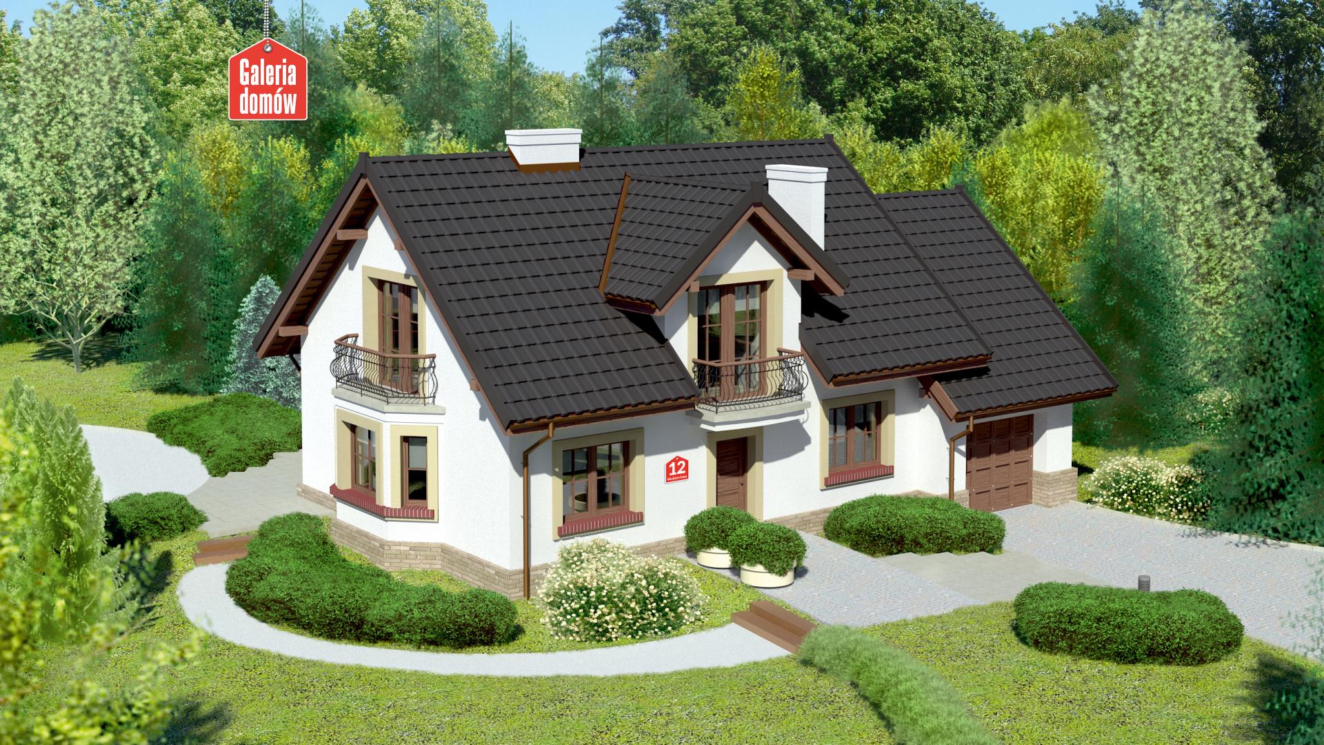 Dom przy Modrzewiowej 12 - zdjęcie projektu i wizualizacja