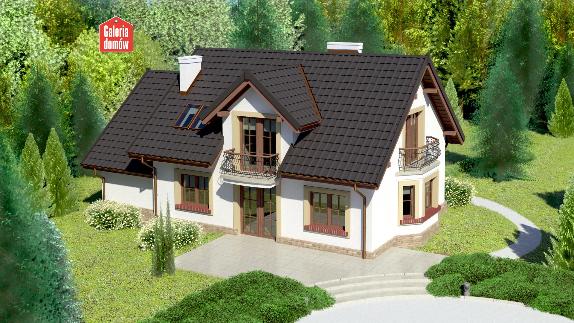 Dom przy Modrzewiowej 12 - widok od strony ogrodu