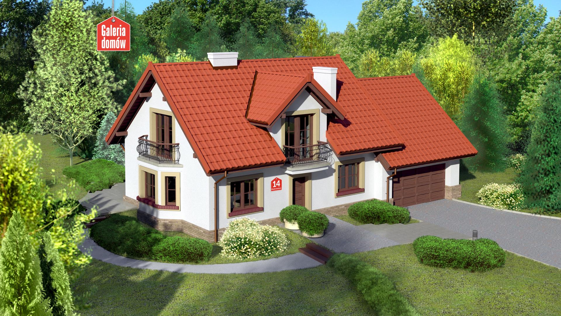 Dom przy Modrzewiowej 14 - zdjęcie projektu i wizualizacja