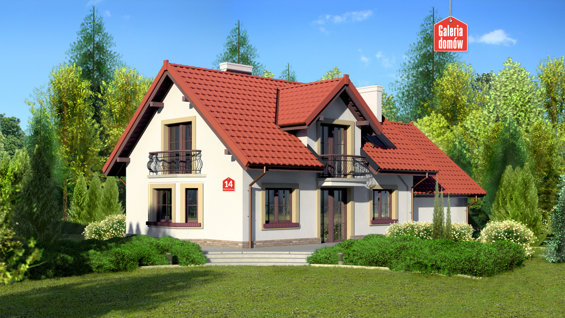 Dom przy Modrzewiowej 14 - widok od ogrodu