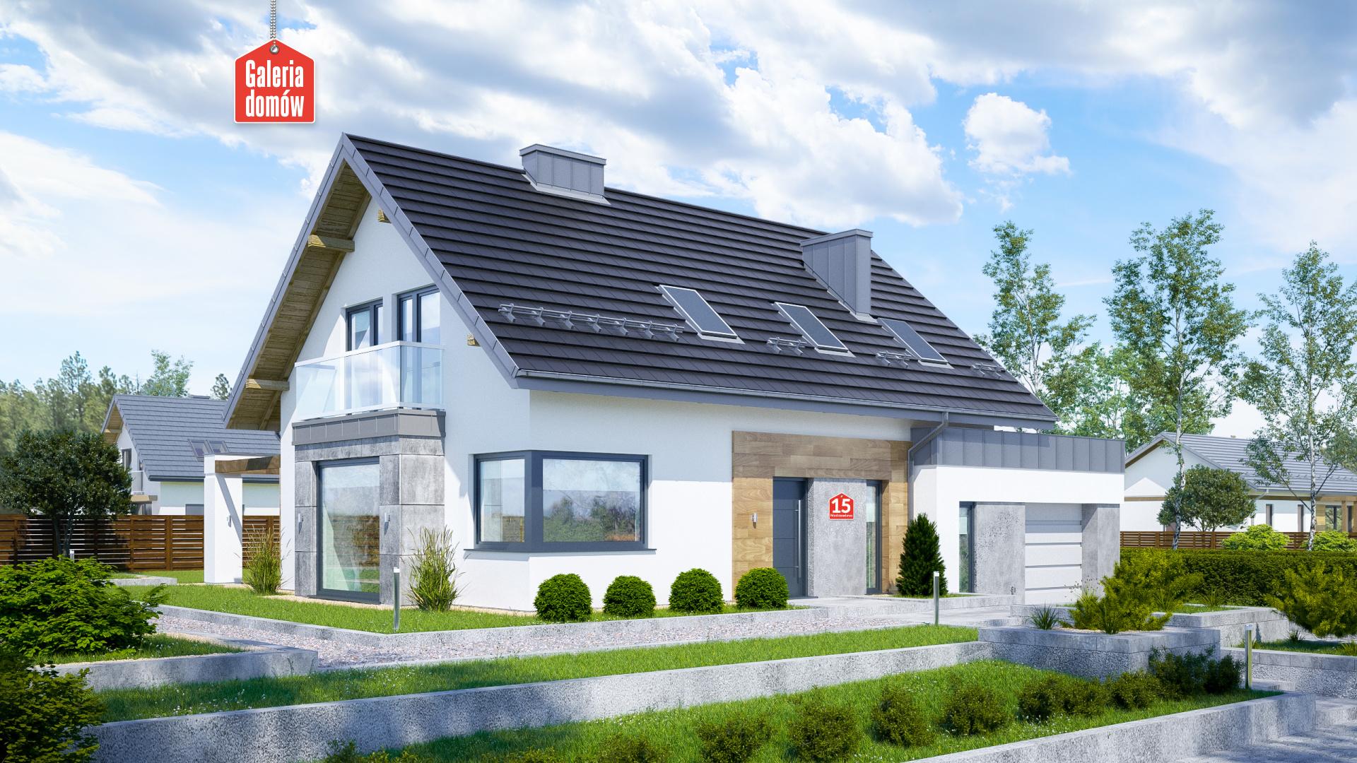 Zdjęcie projektu i wizualizacja: projekt domu Dom przy Modrzewiowej 15